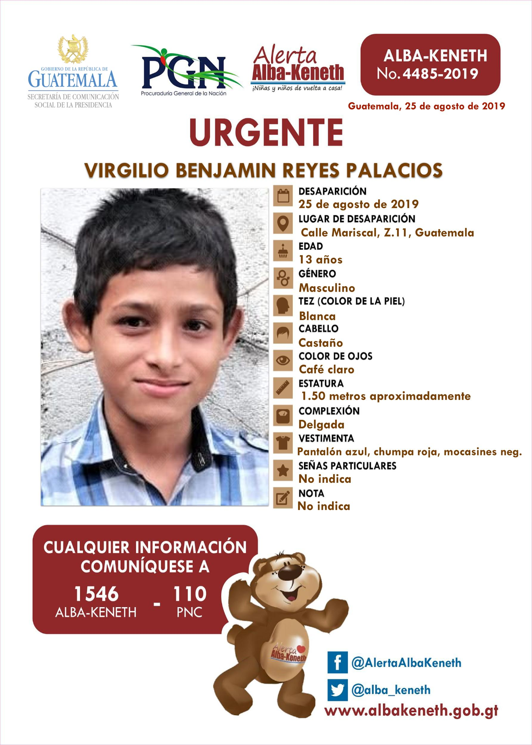 Virgilio Benjamin Reyes Palacios