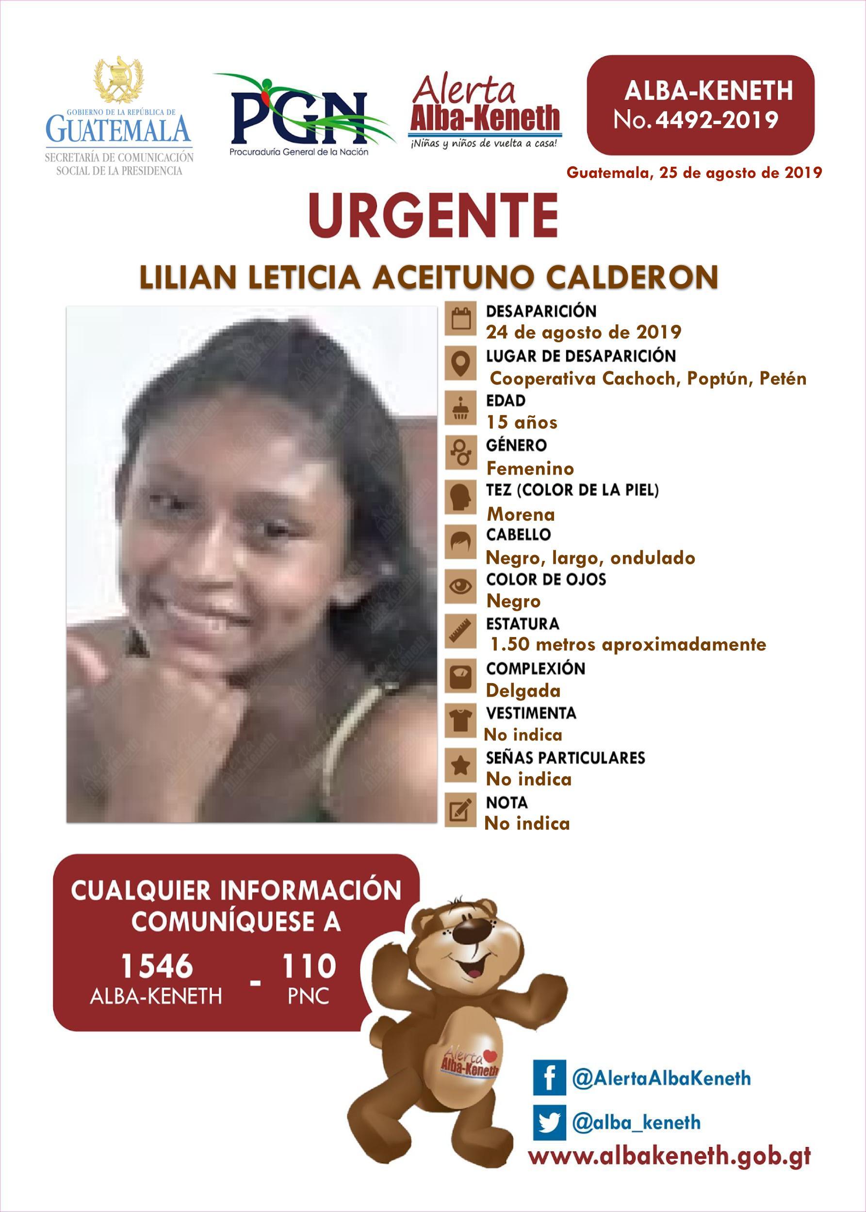 Lilian Leticia Aceituno Calderon