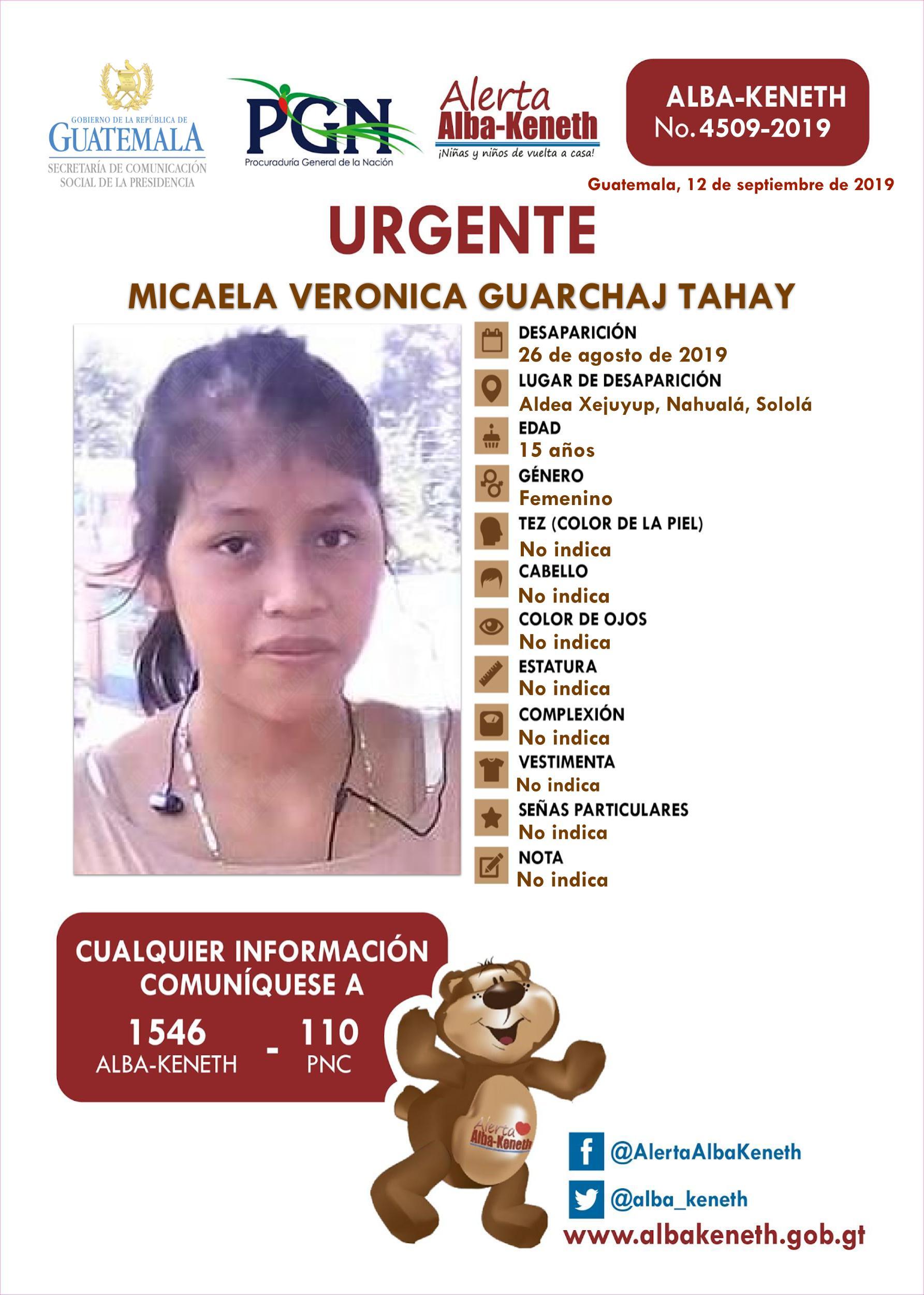 Micaela Veronica Guarchaj Tahay