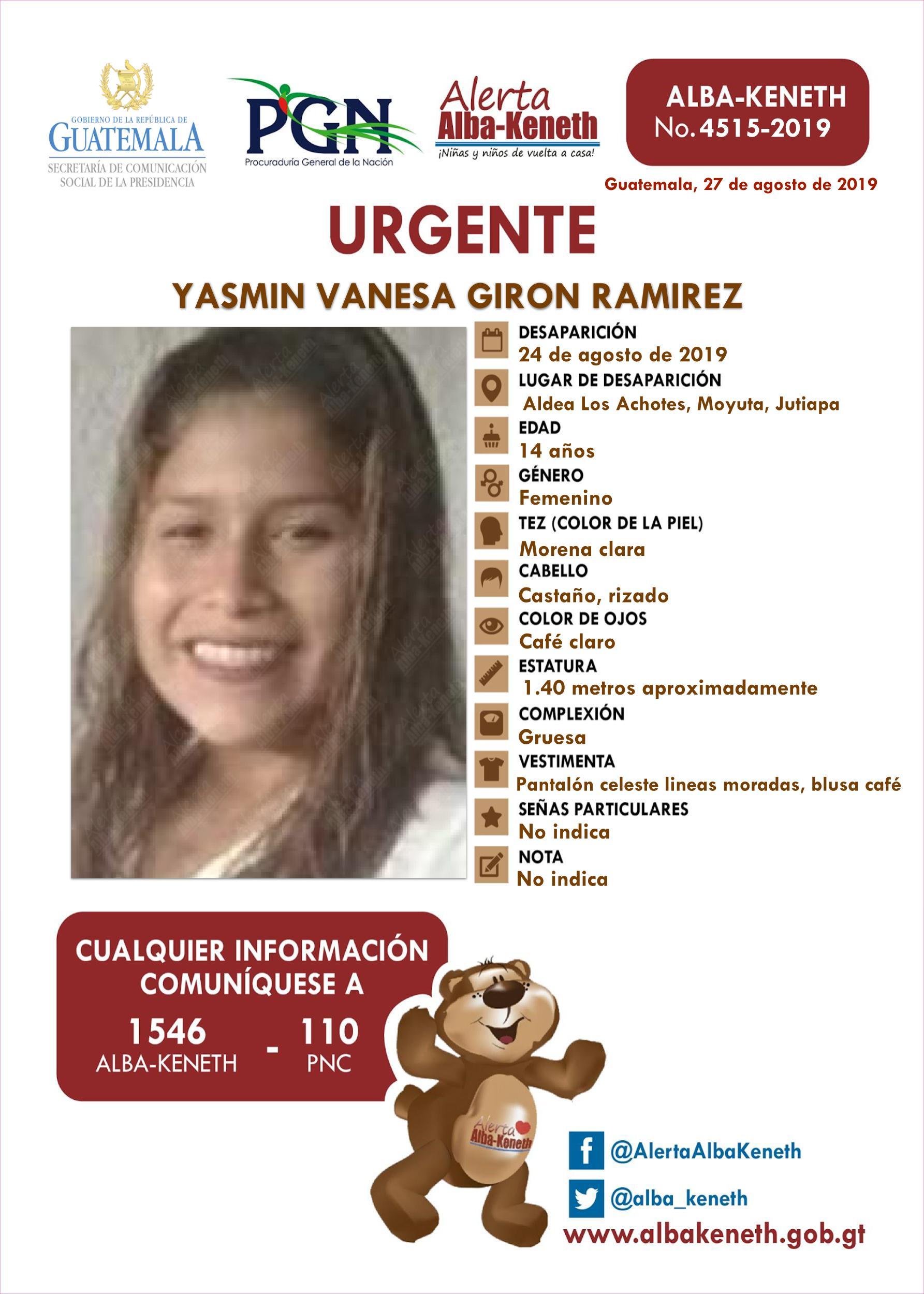 Yasmin Vanesa Giron Ramirez