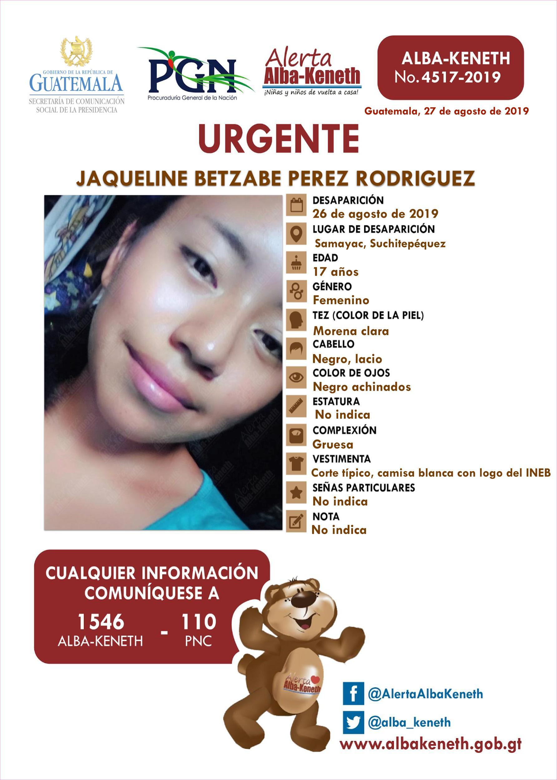 Jaqueline Betzabe Perez Rodriguez