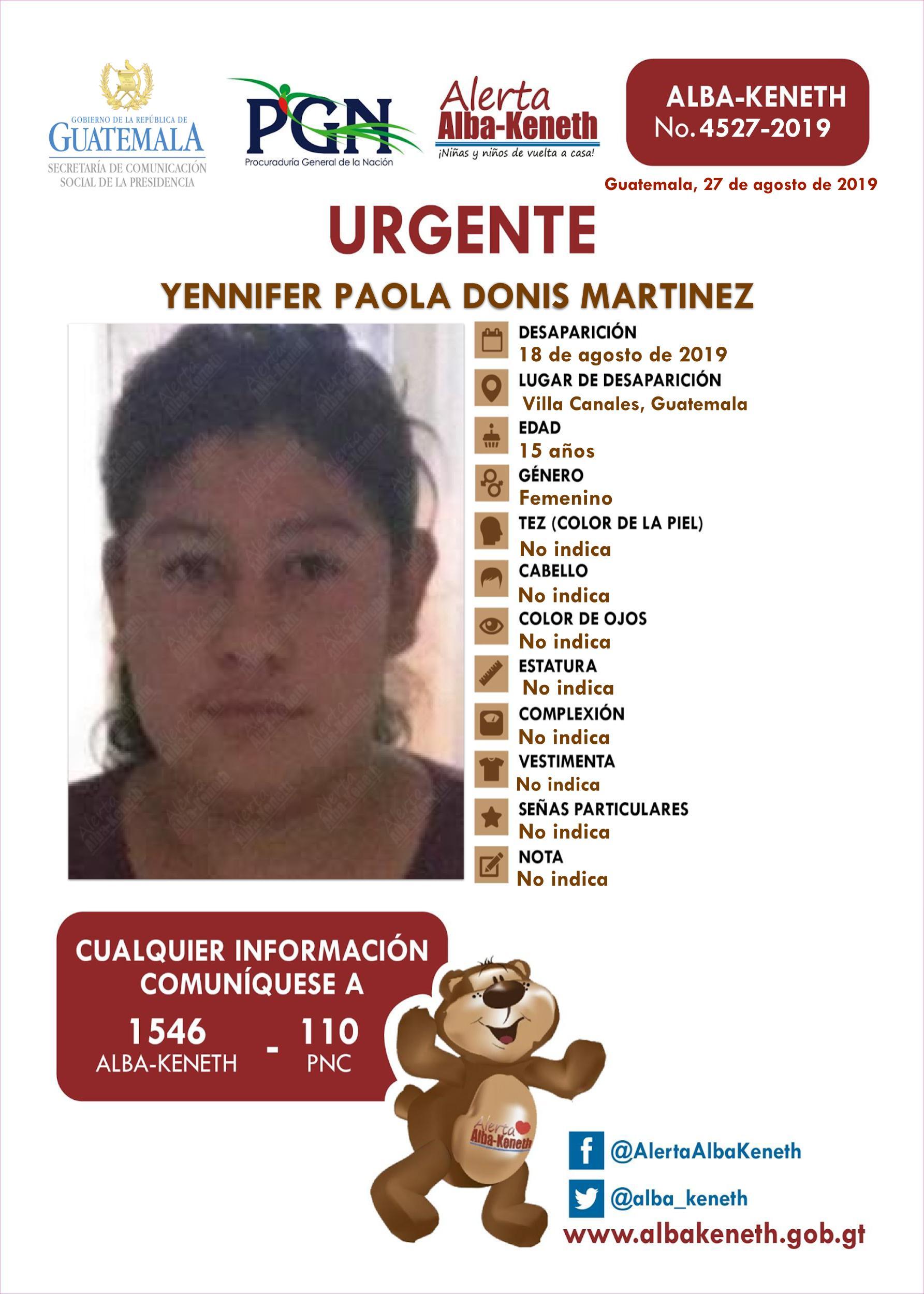 Yennifer Paola Donis Martinez