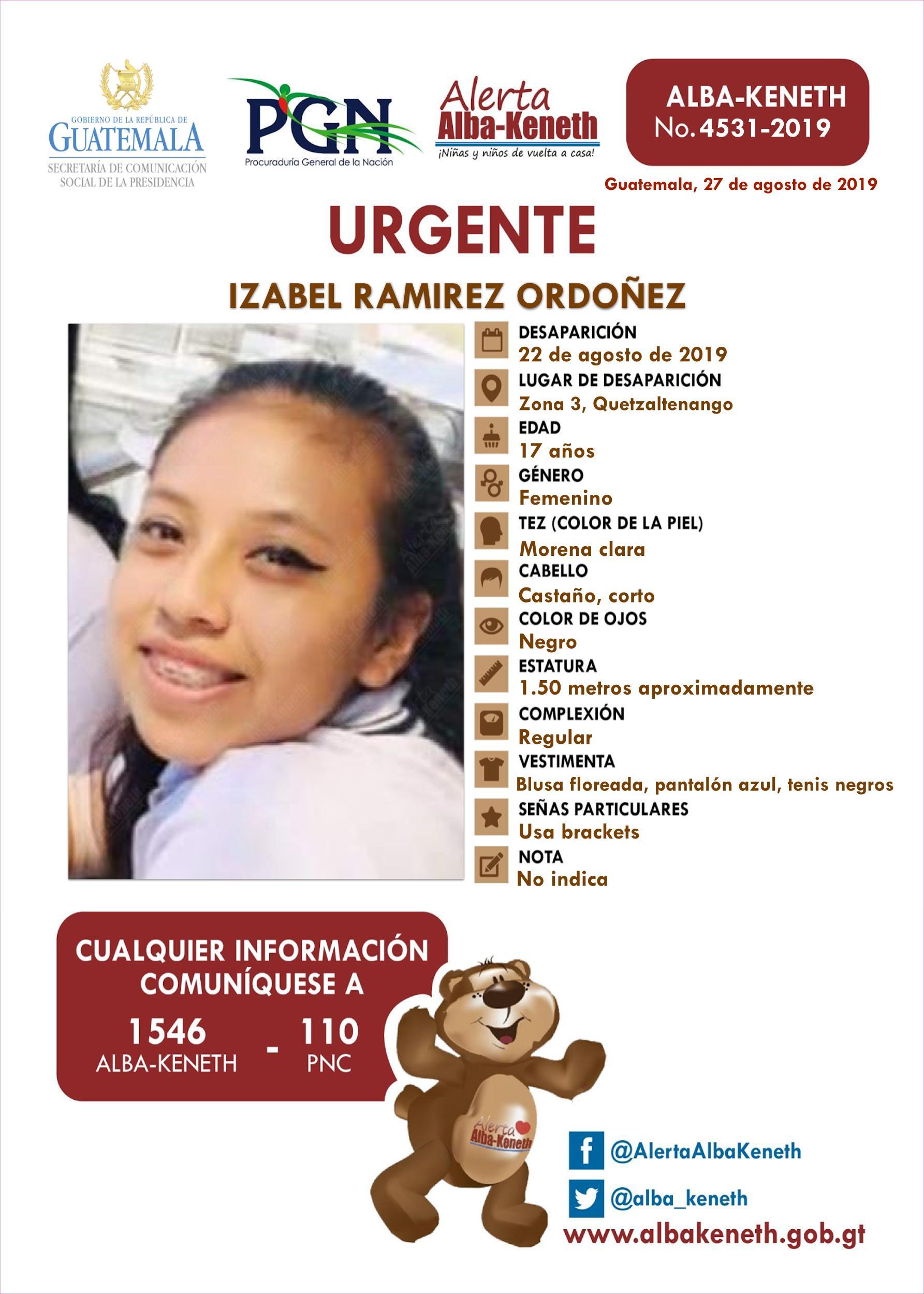 Izabel Ramirez Ordoñez
