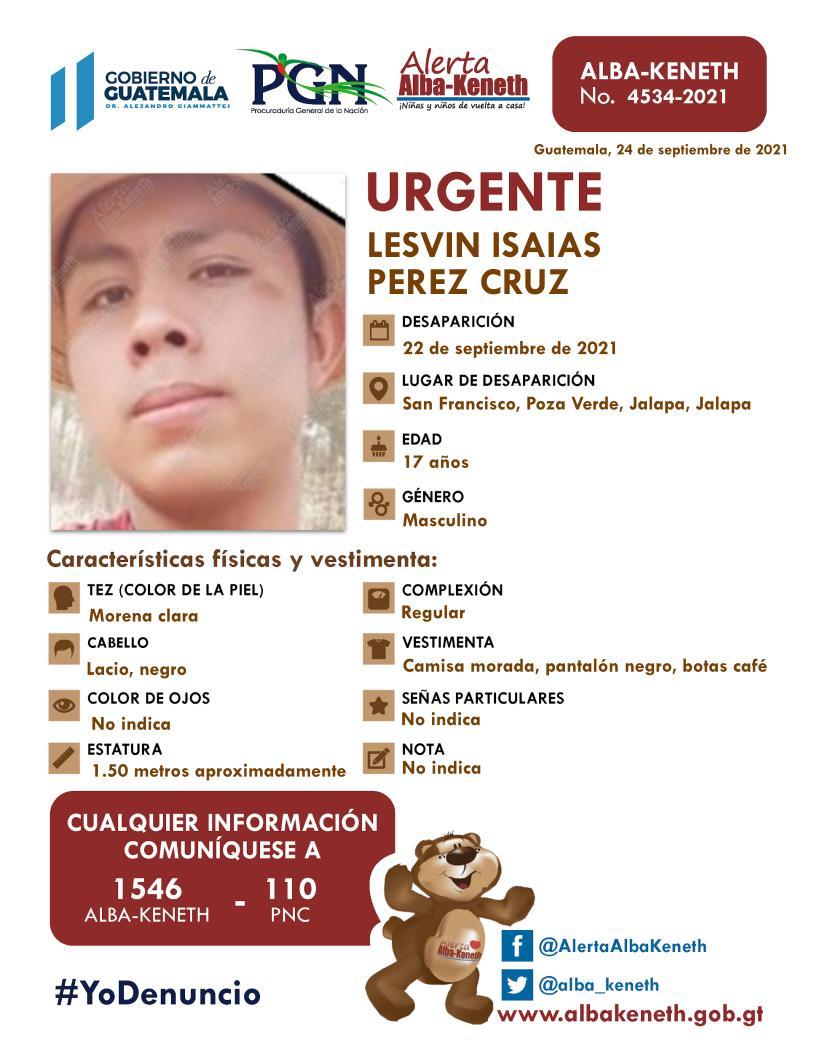 Lesvin Isaias Perez Cruz