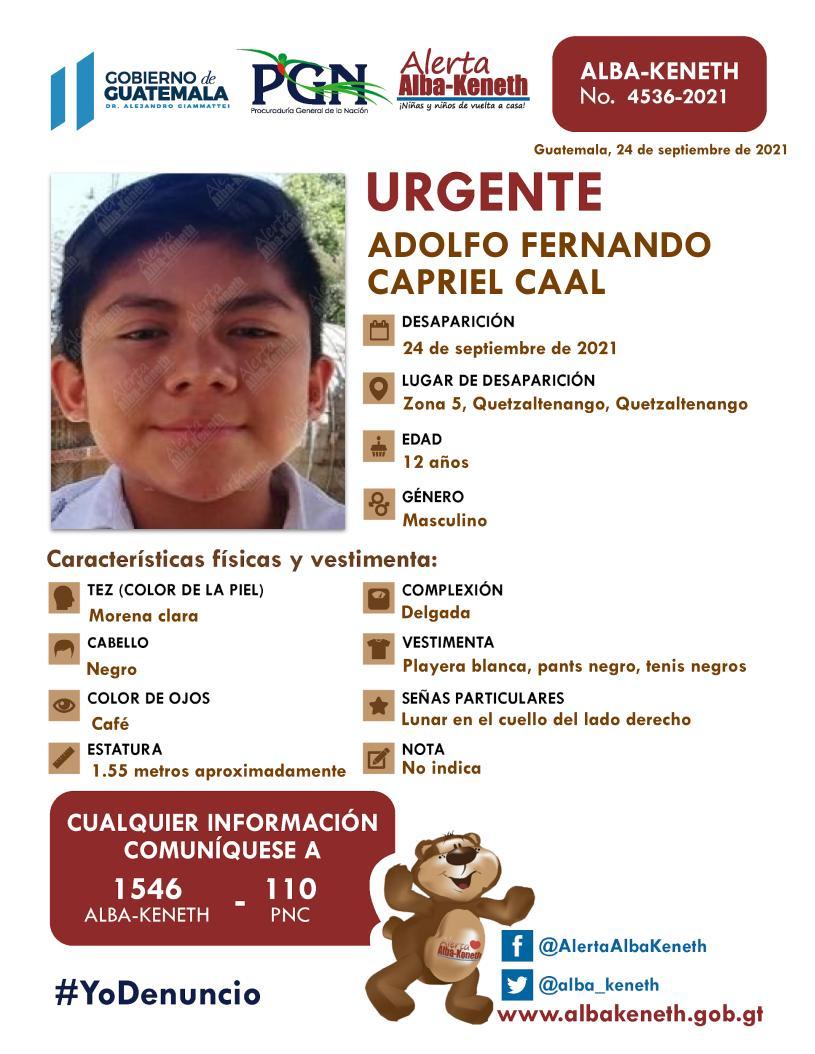 Adolfo Fernando Capriel Caal