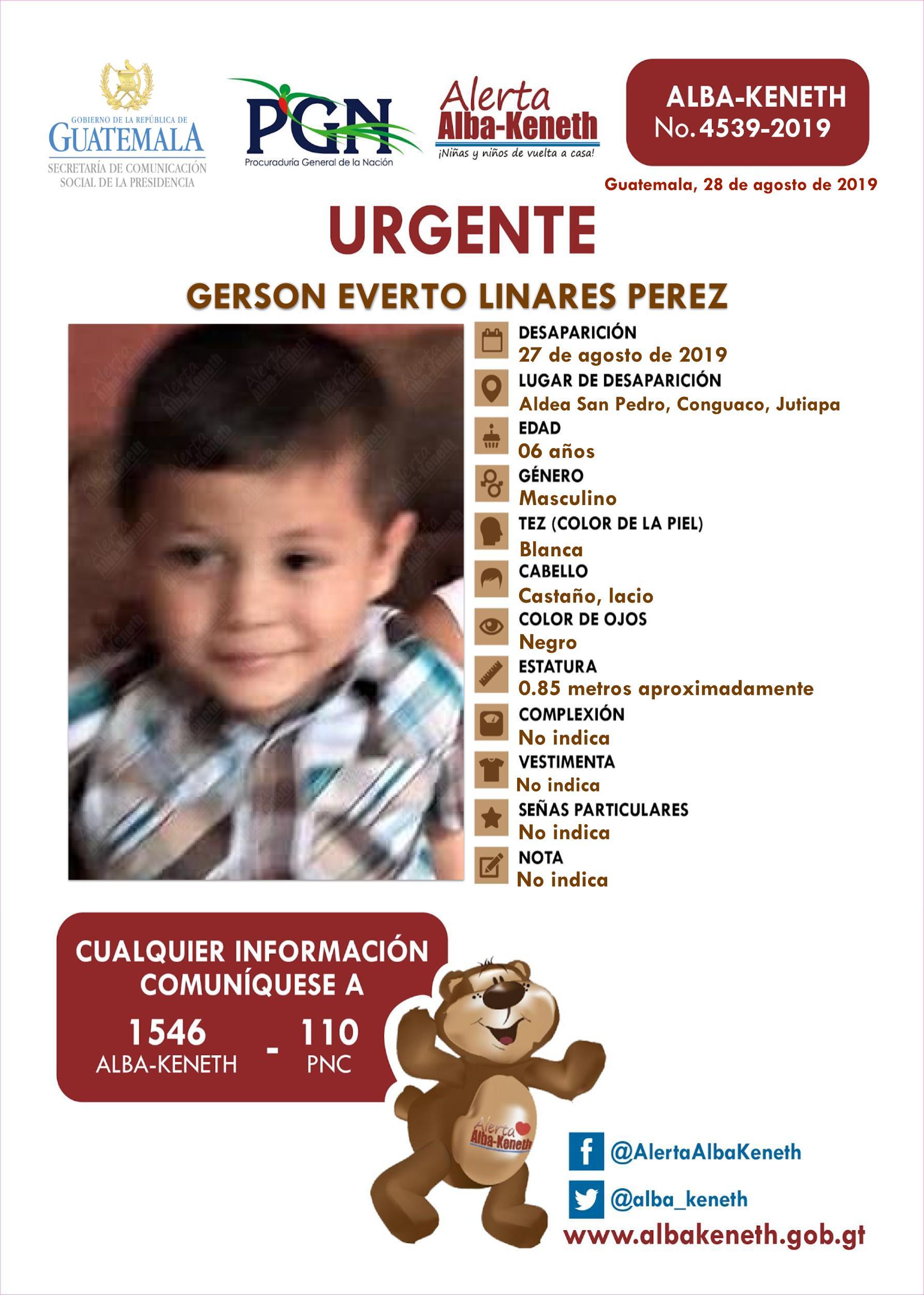 Gerson Everto Linares Perez