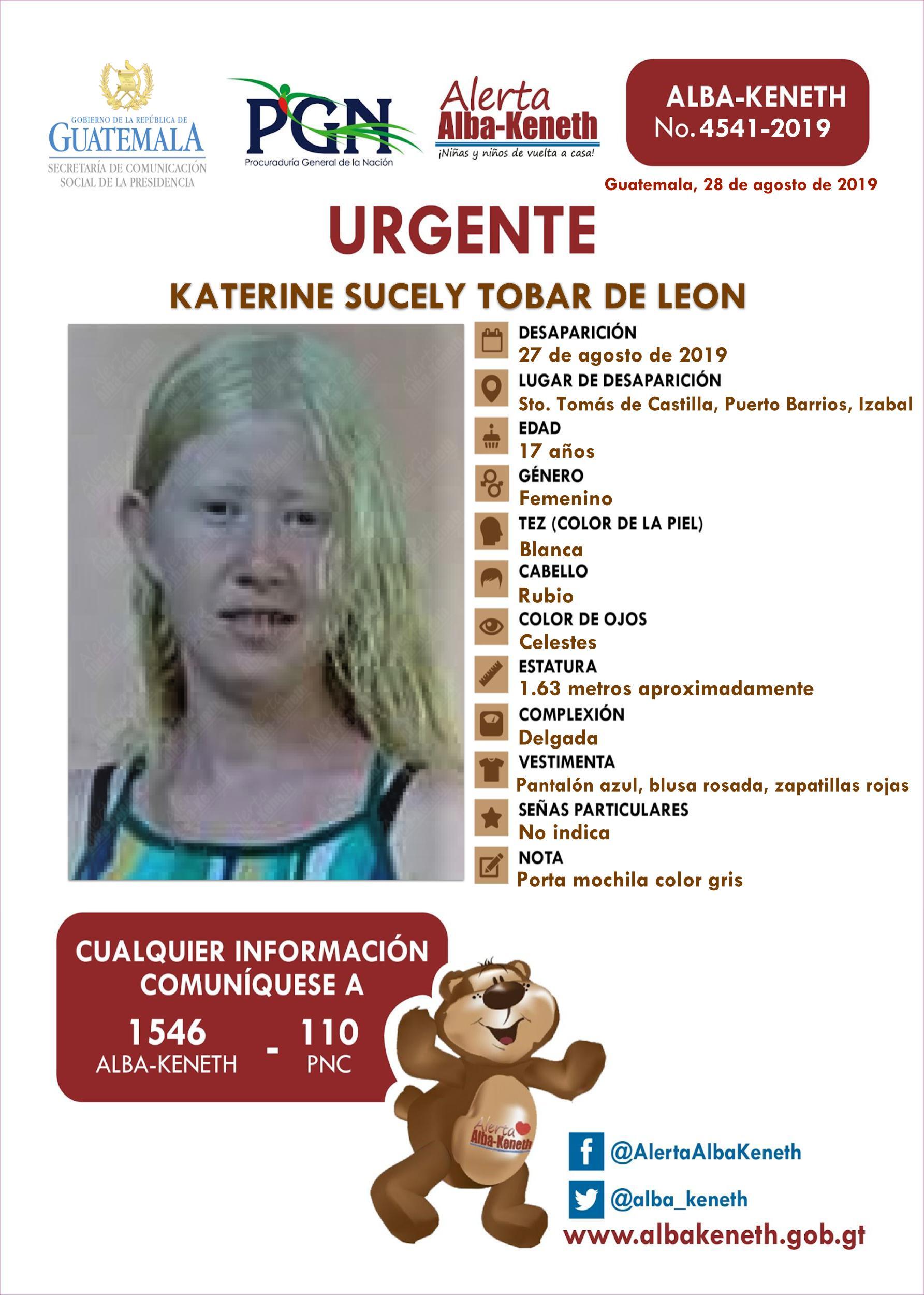 Katerine Sucely Tobar de Leon