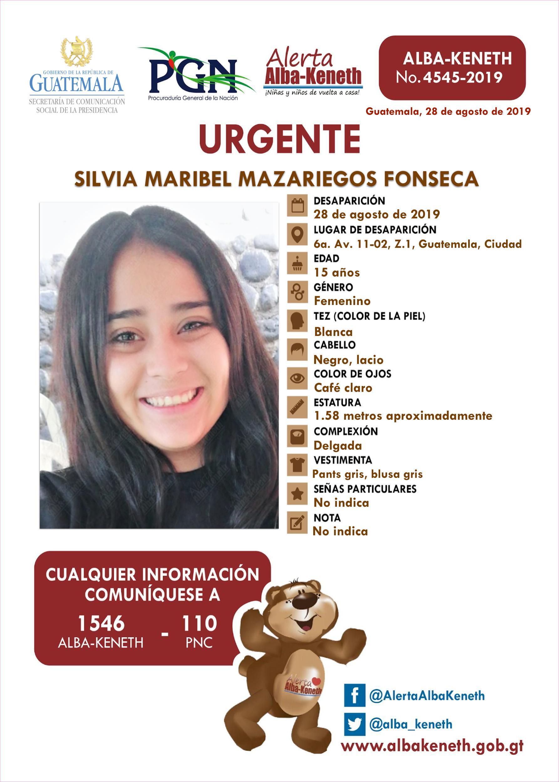 Silvia Maribel Mazariegos Fonseca
