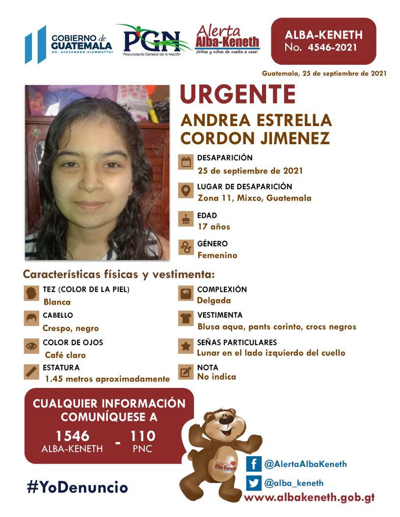 Andrea Estrellas Cordon Jimenez