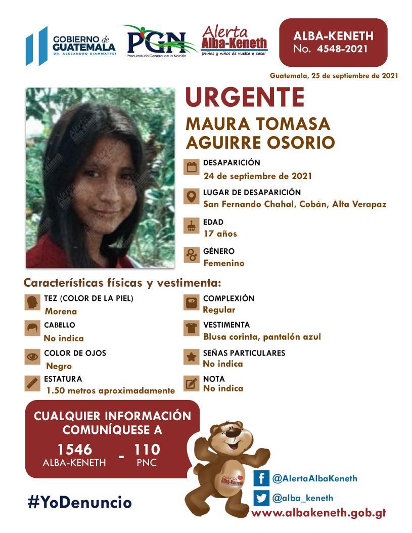 Maura Tomasa Aguirre Osorio