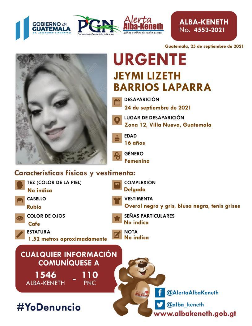 Jeymi Lizeth Barrios Laparra