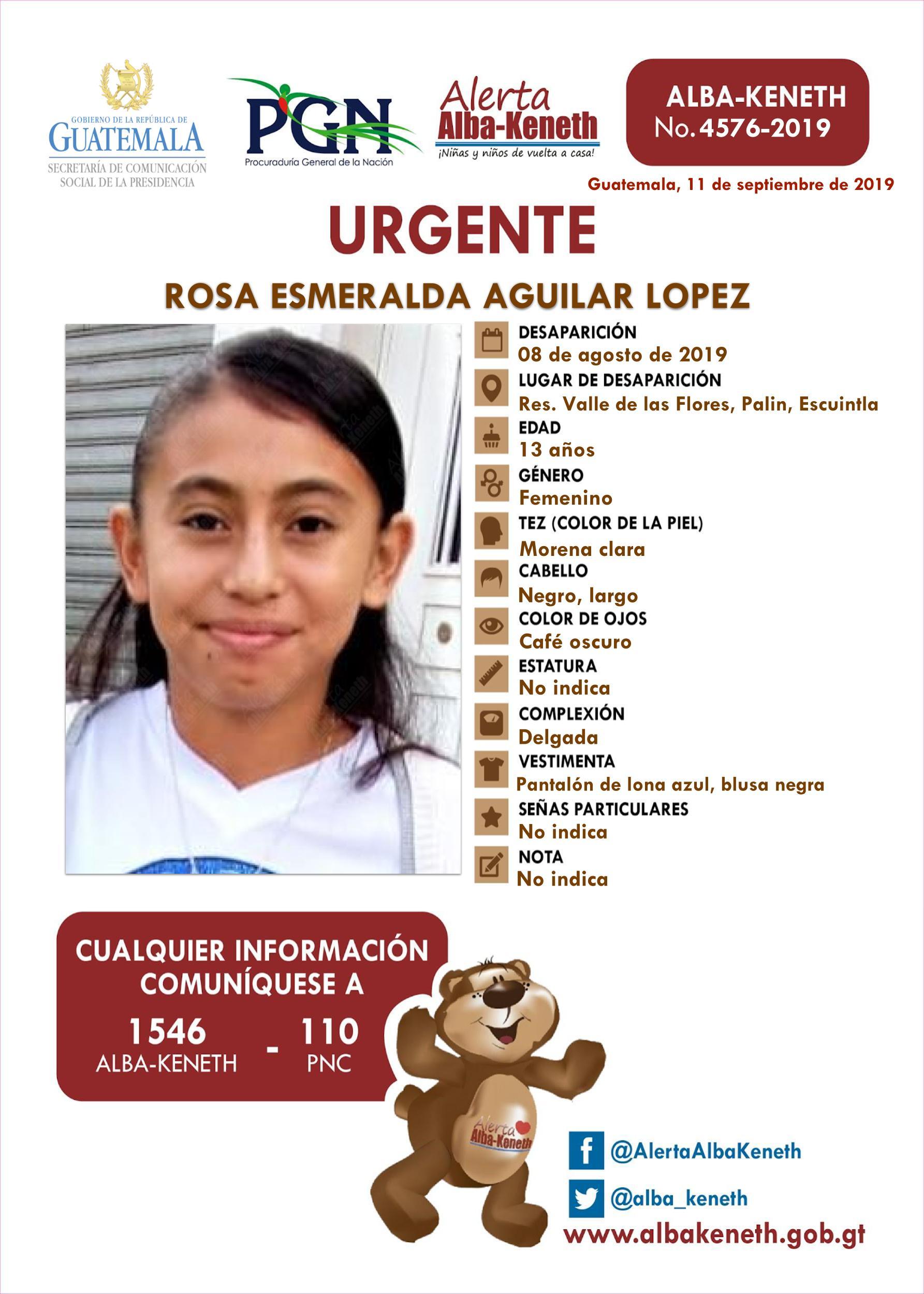 Rosa Esmeralda Aguilar Lopez