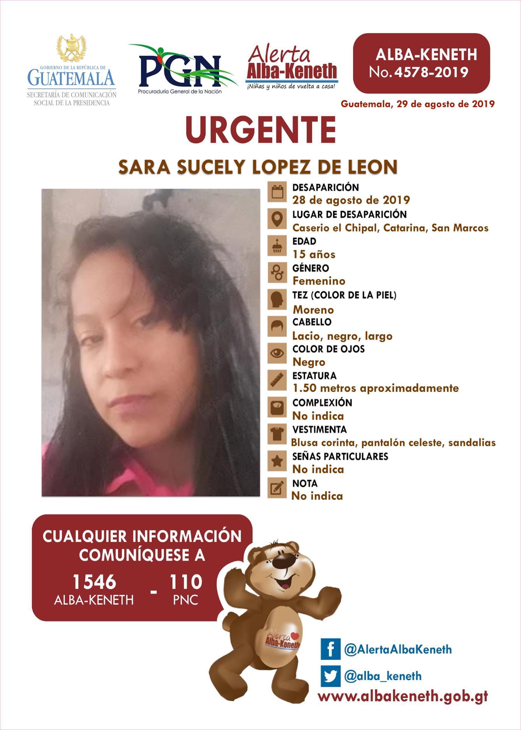 Sara Sucely Lopez de Leon