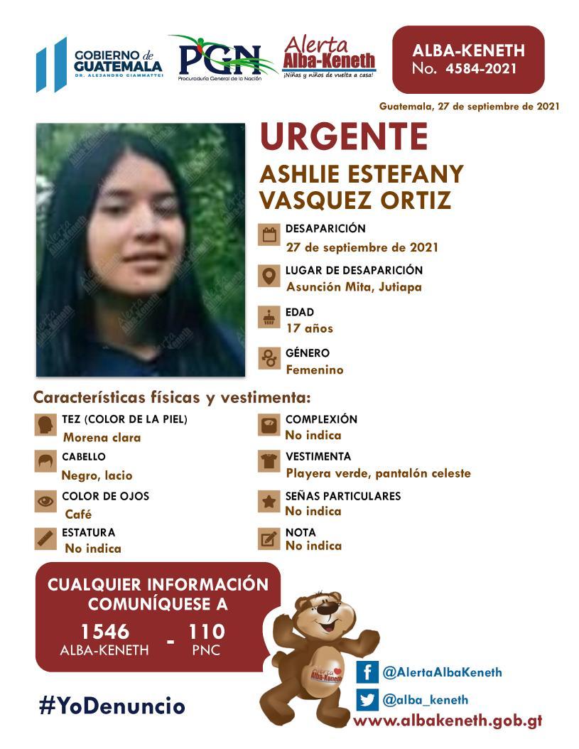 Ashlie Estefany Vásquez Ortiz