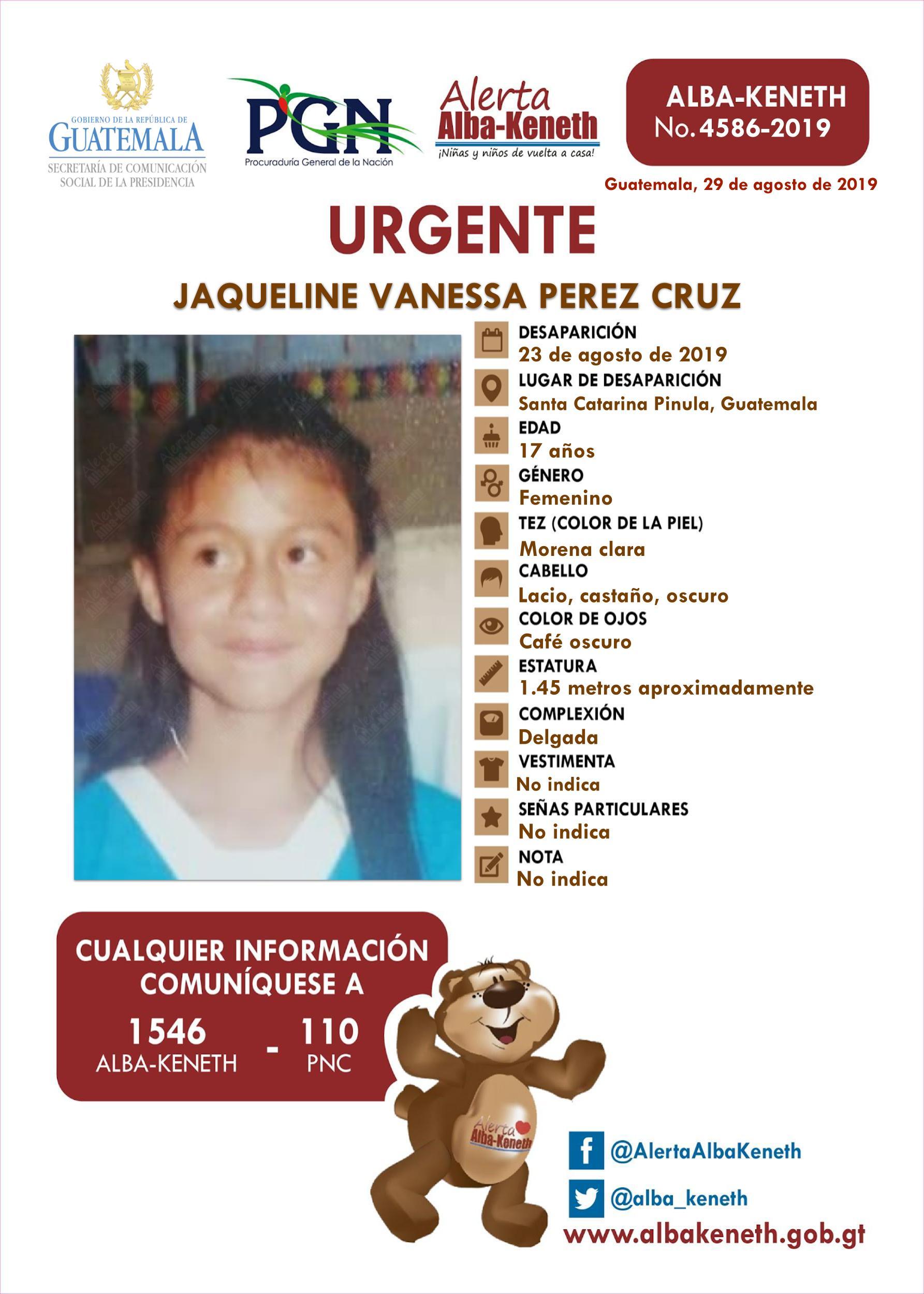 Jaqueline Vanessa Perez Cruz