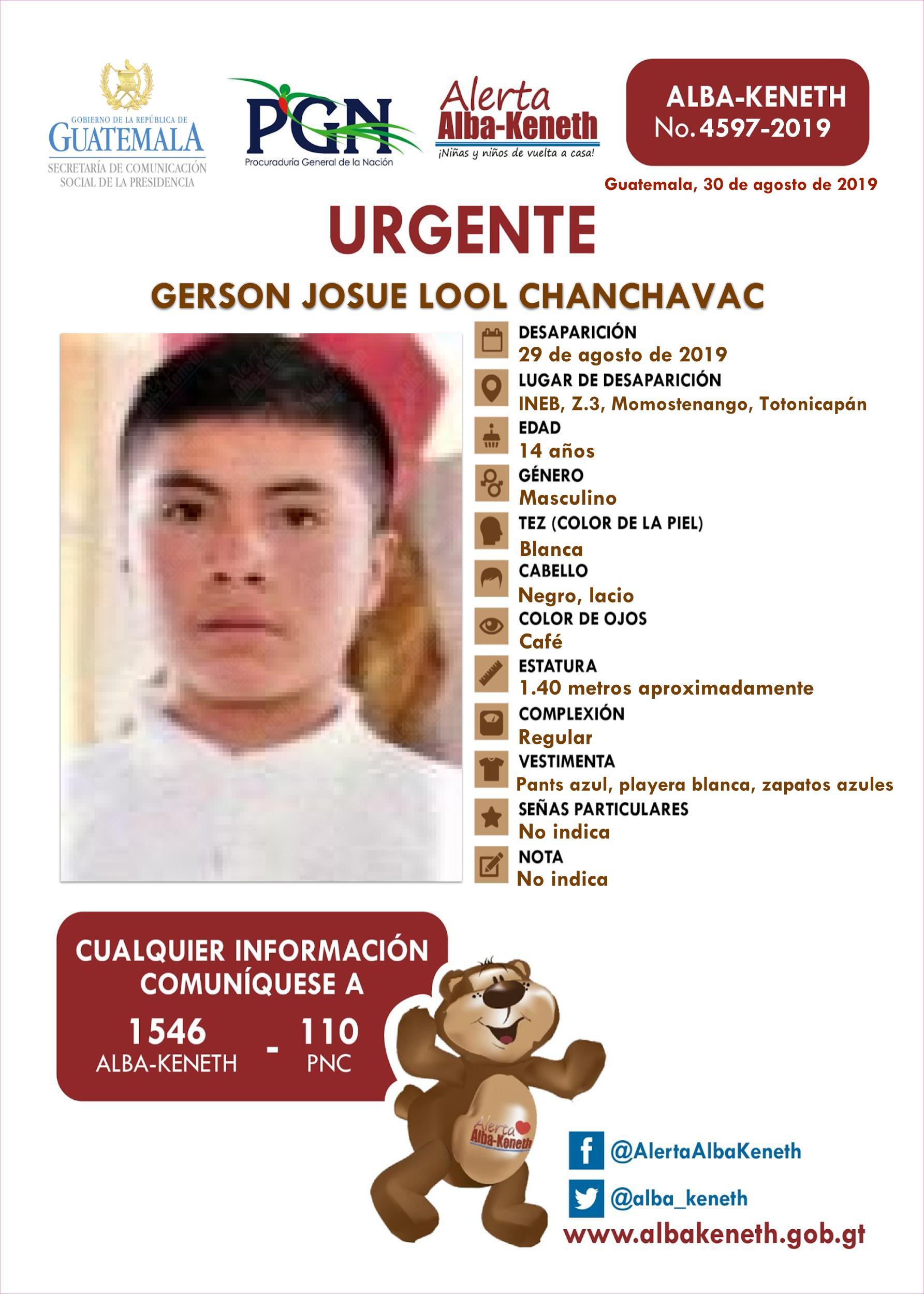 Gerson Josue Lool Chanchavac
