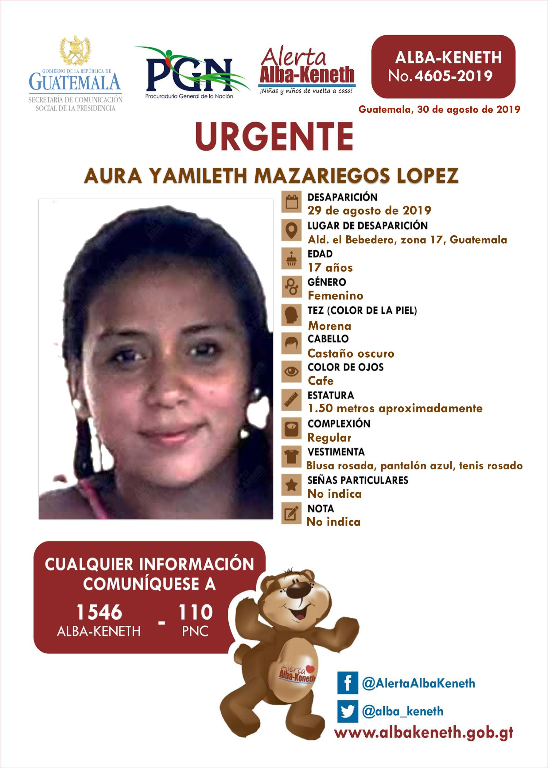 Aura Yamileth Mazariegos Lopez