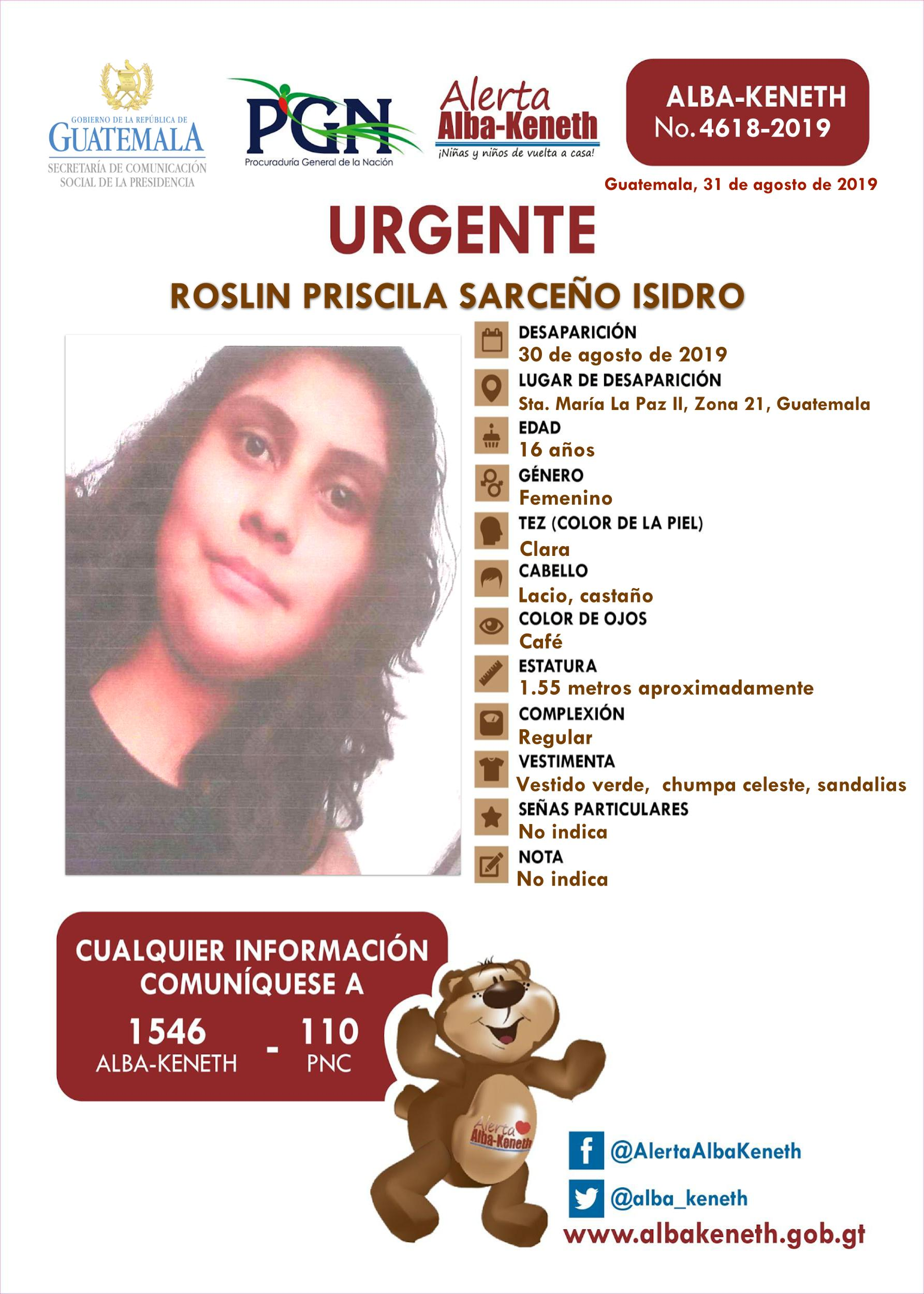 Roslin Priscila Sarceño Isidro