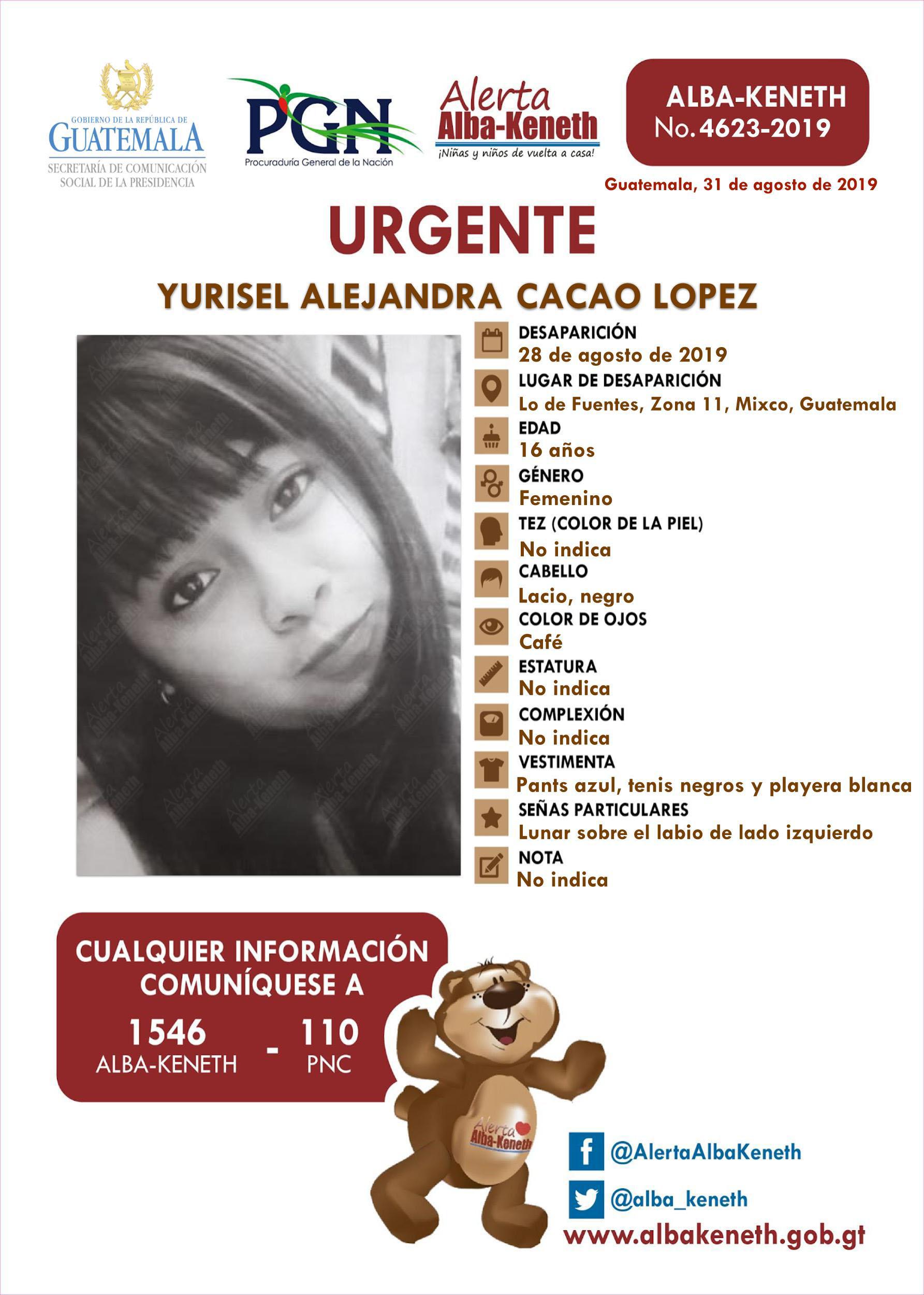 Yurisel Alejandra Cacao Lopez