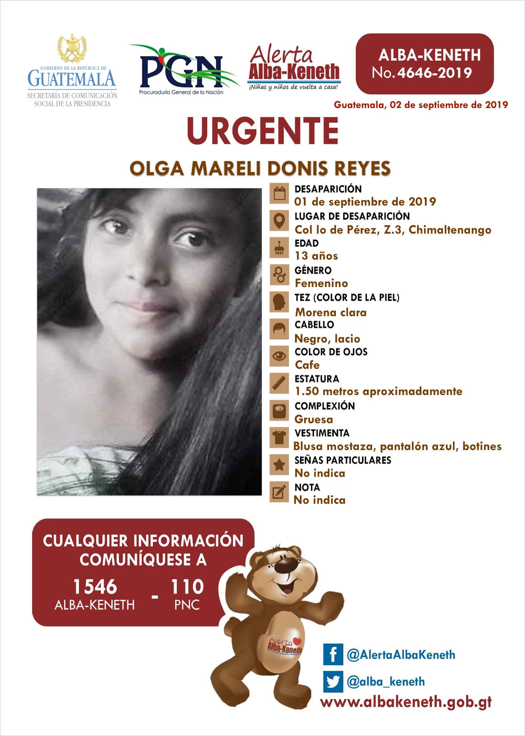Olga Mareli Donis Reyes