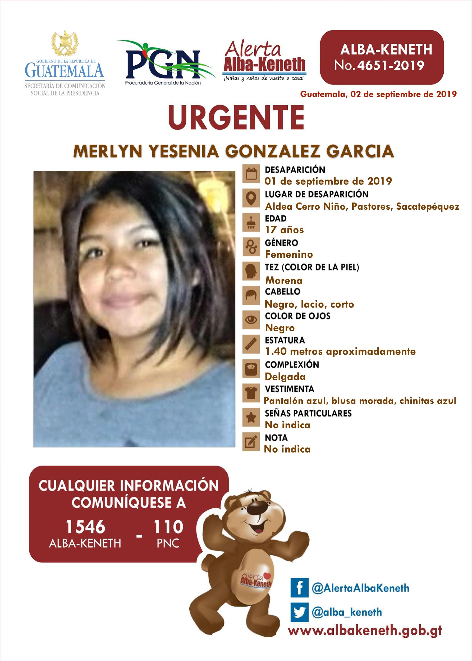 Merlyn Yesenia Gonzalez Garcia