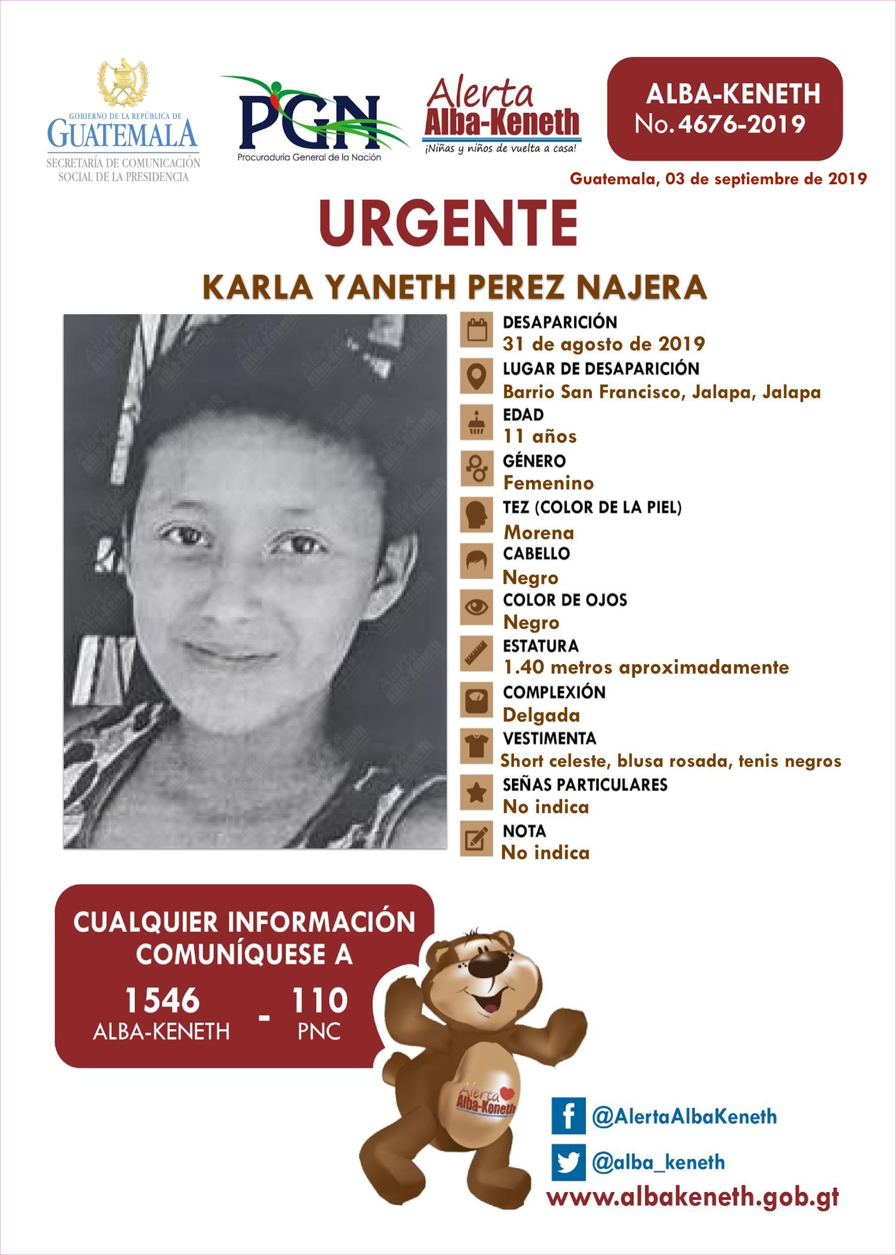 Karla Yaneth Perez Najera