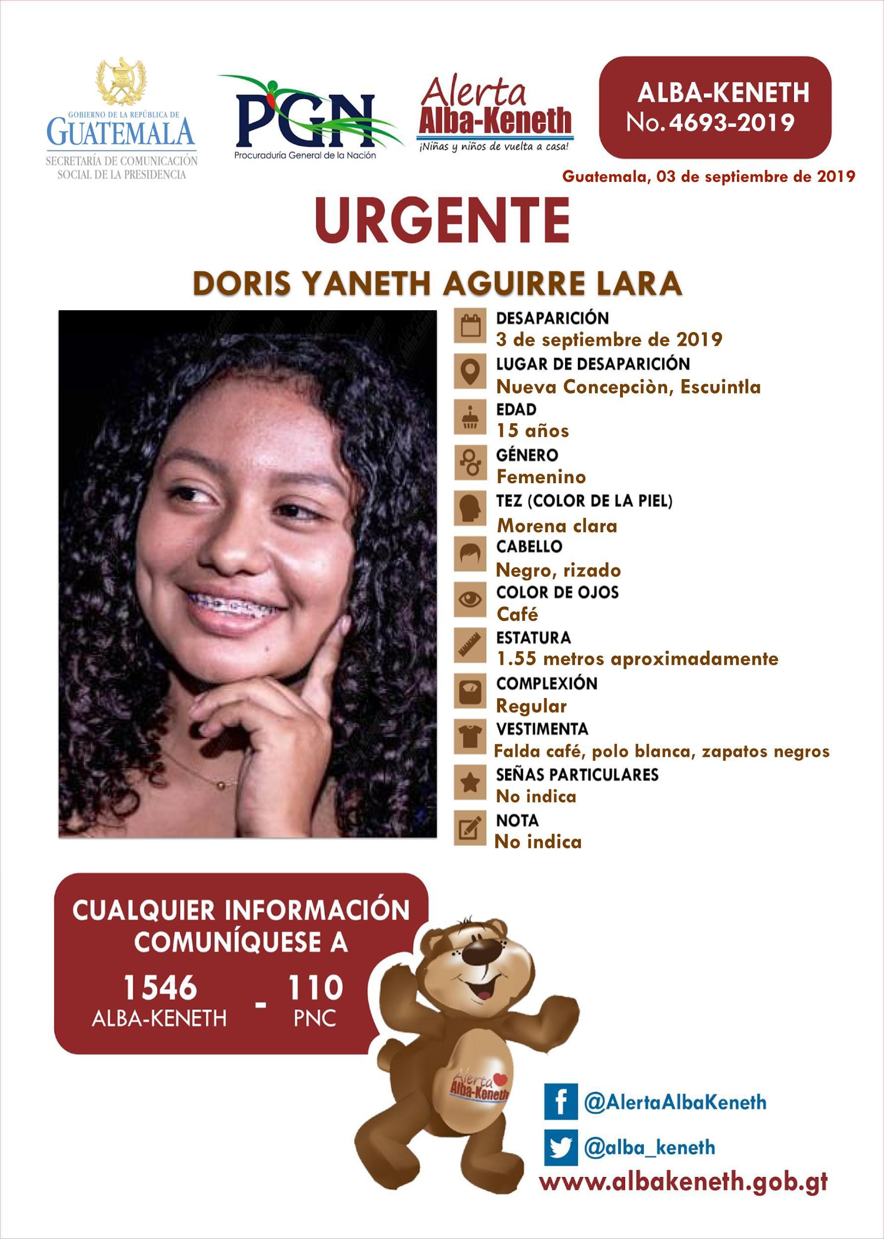 Doris Yaneth Aguirre Lara