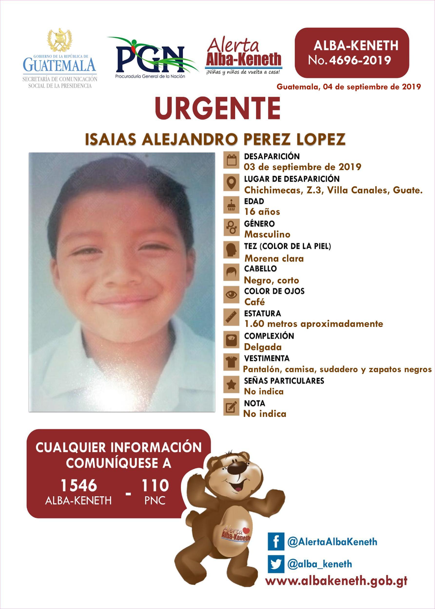 Isaias Alejandro Perez Lopez