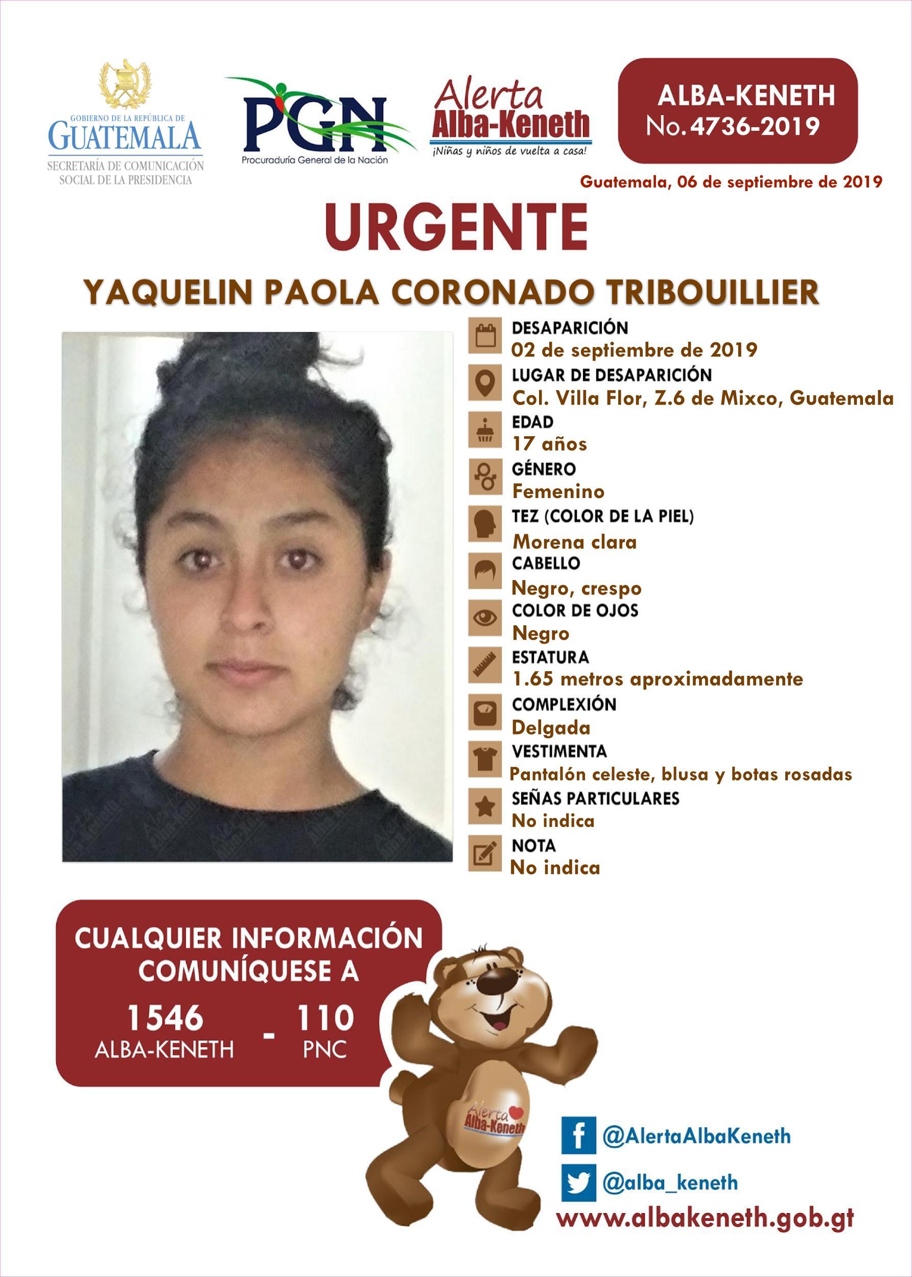 Yaquelin Paola Coronado Tribouillier