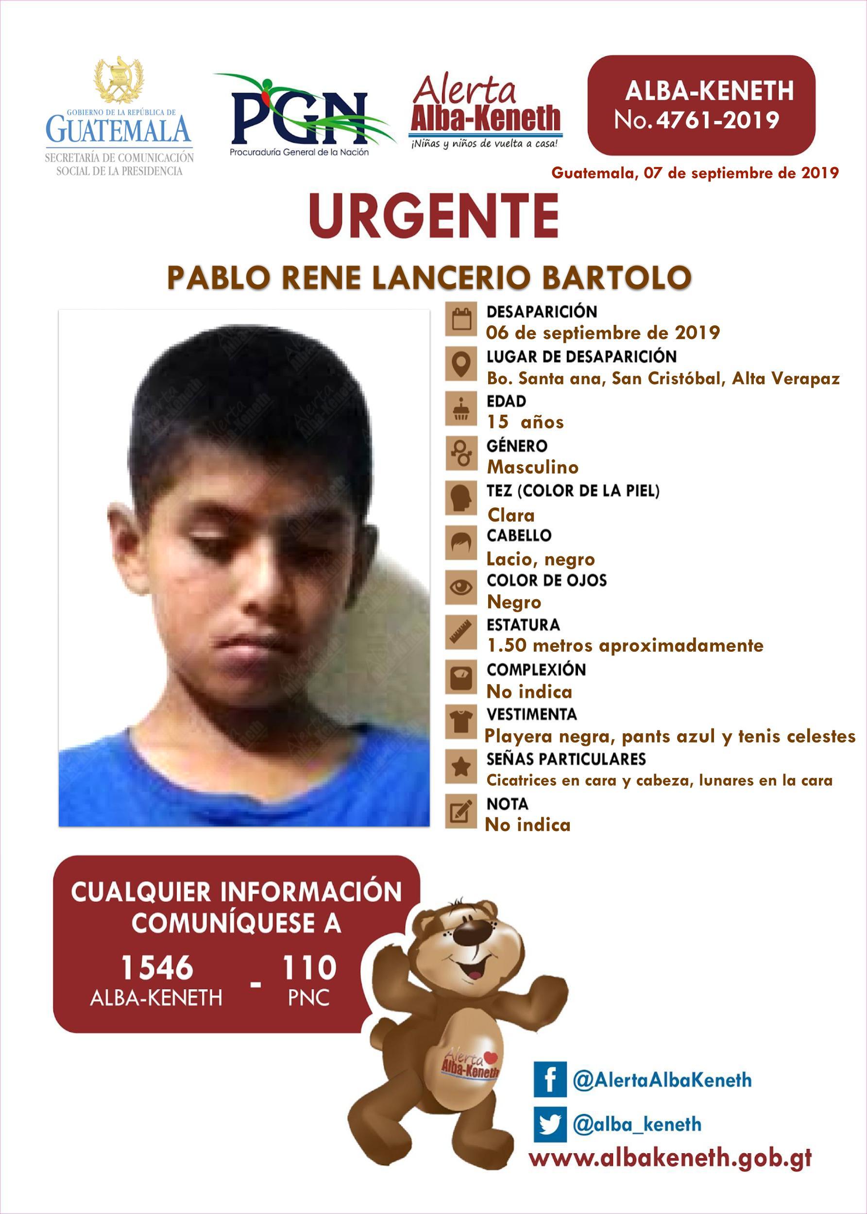 Pablo Rene Lancerio Bartolo