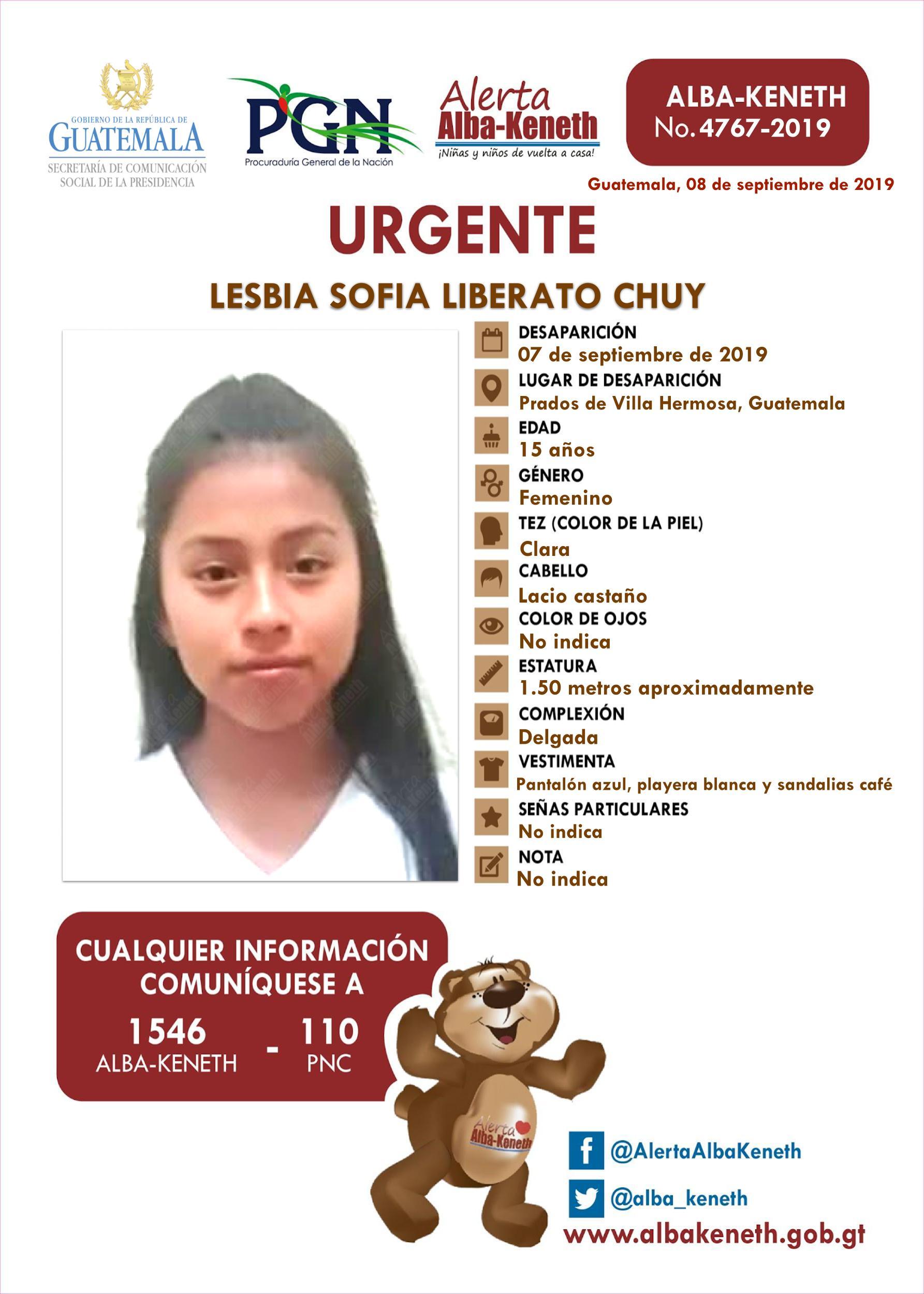 Lesbia Sofia Liberato Chuy