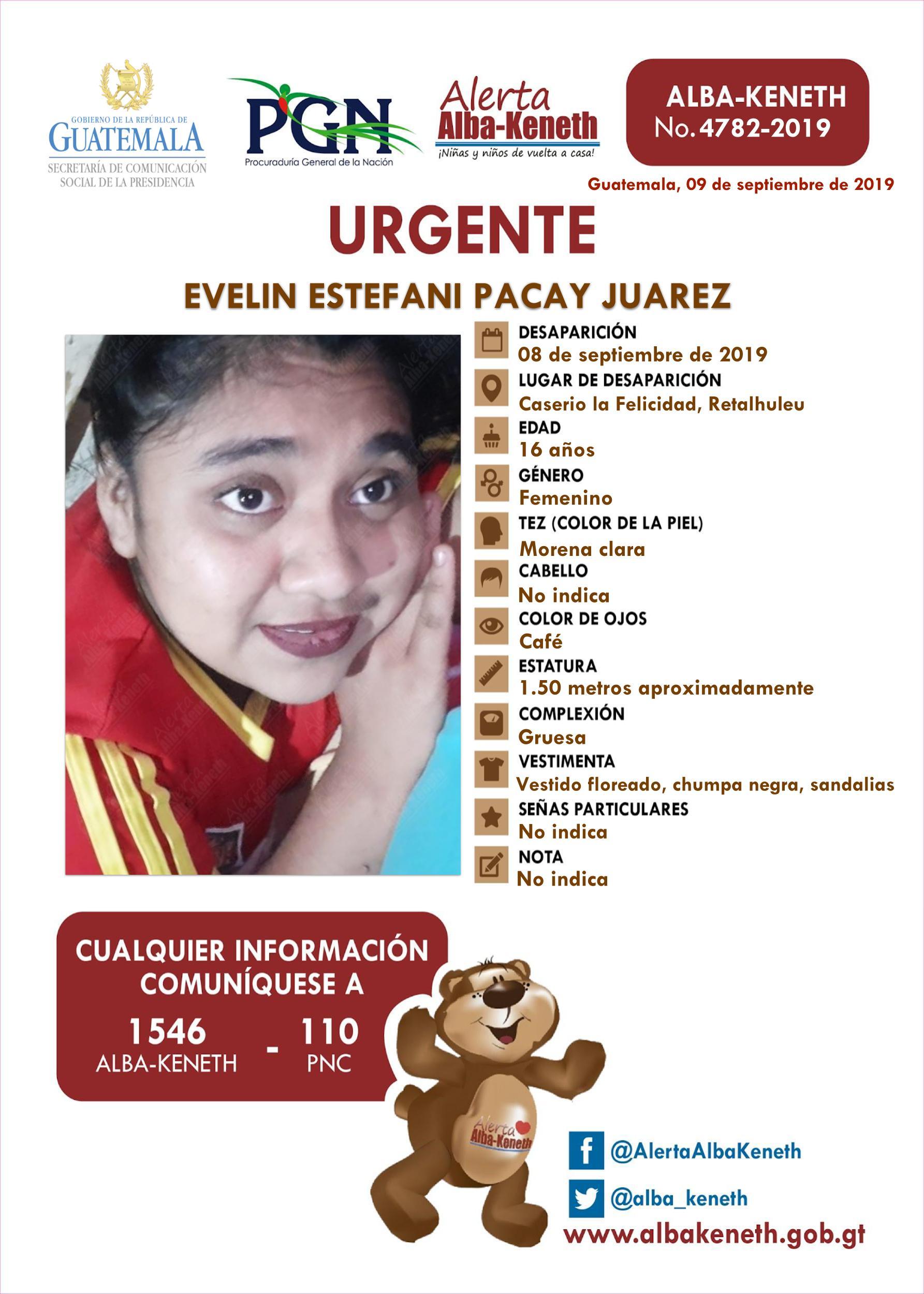 Evelin Estefani Pacay Juarez