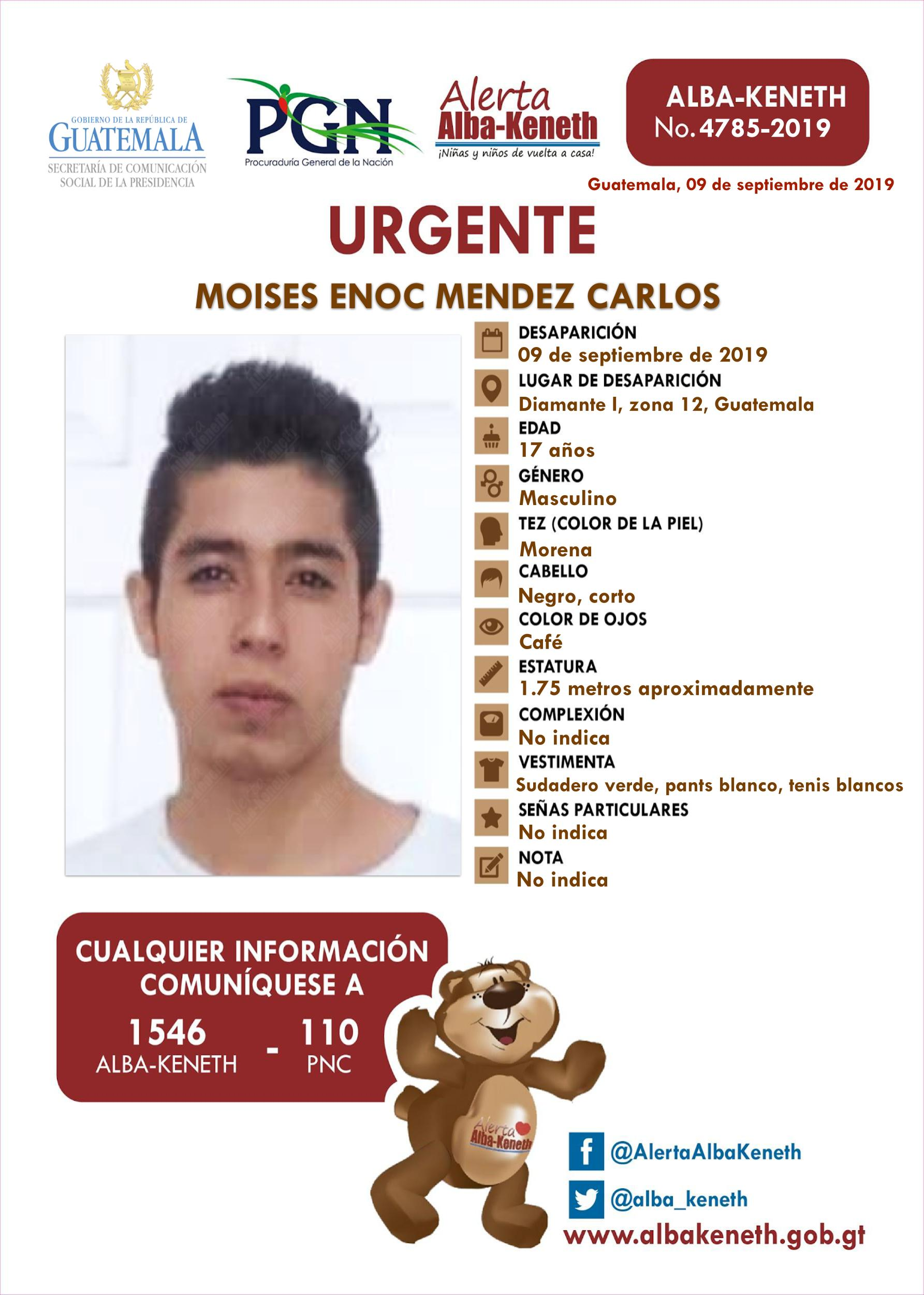 Moises Enoc Mendez Carlos
