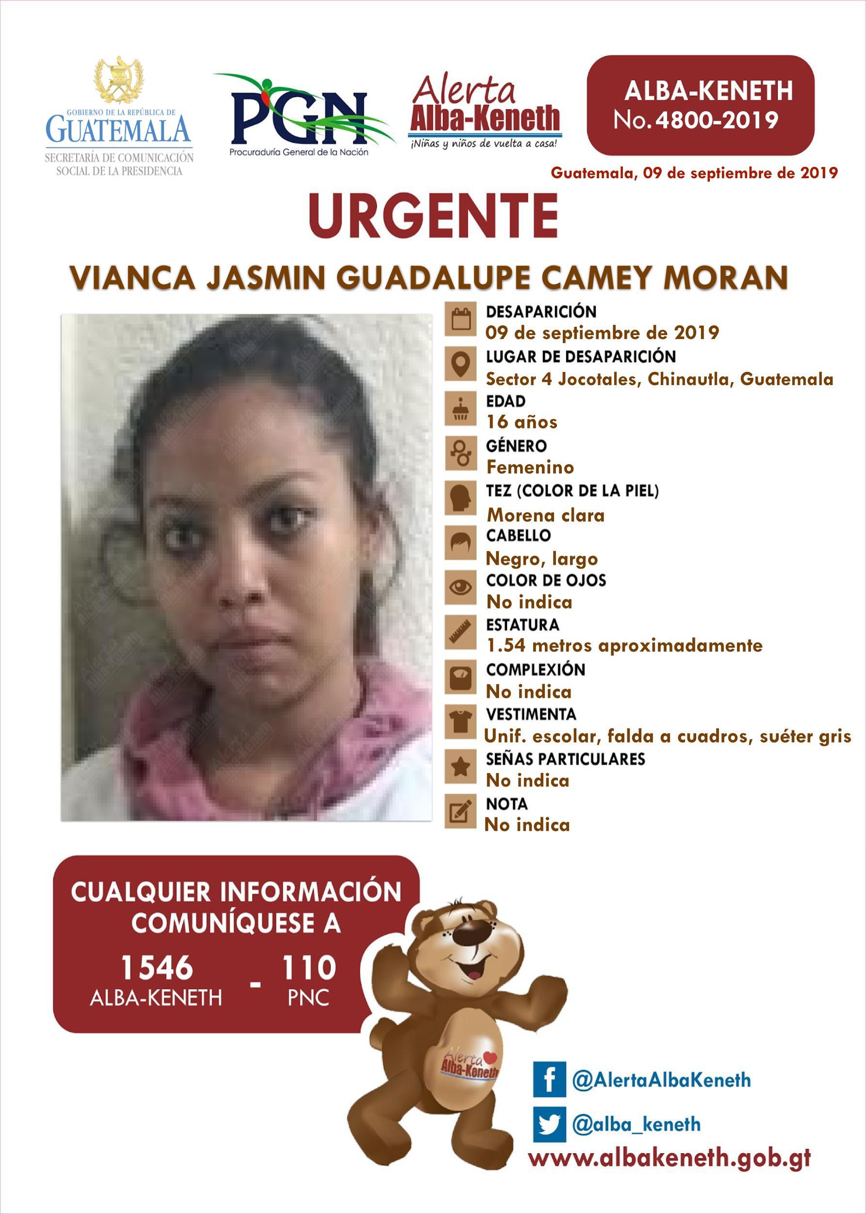 Vianca Jasmin Guadalupe Camey Moran