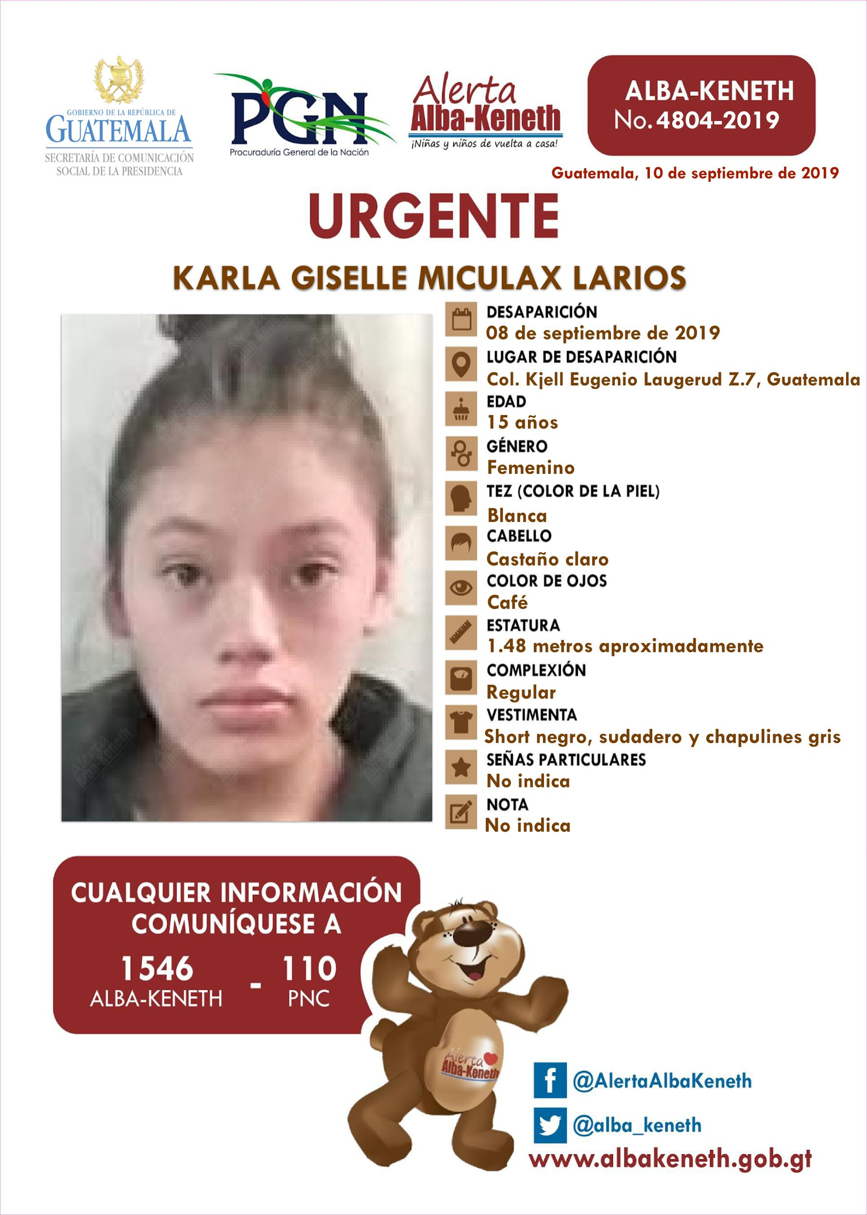 Karla Giselle Miculax Larios