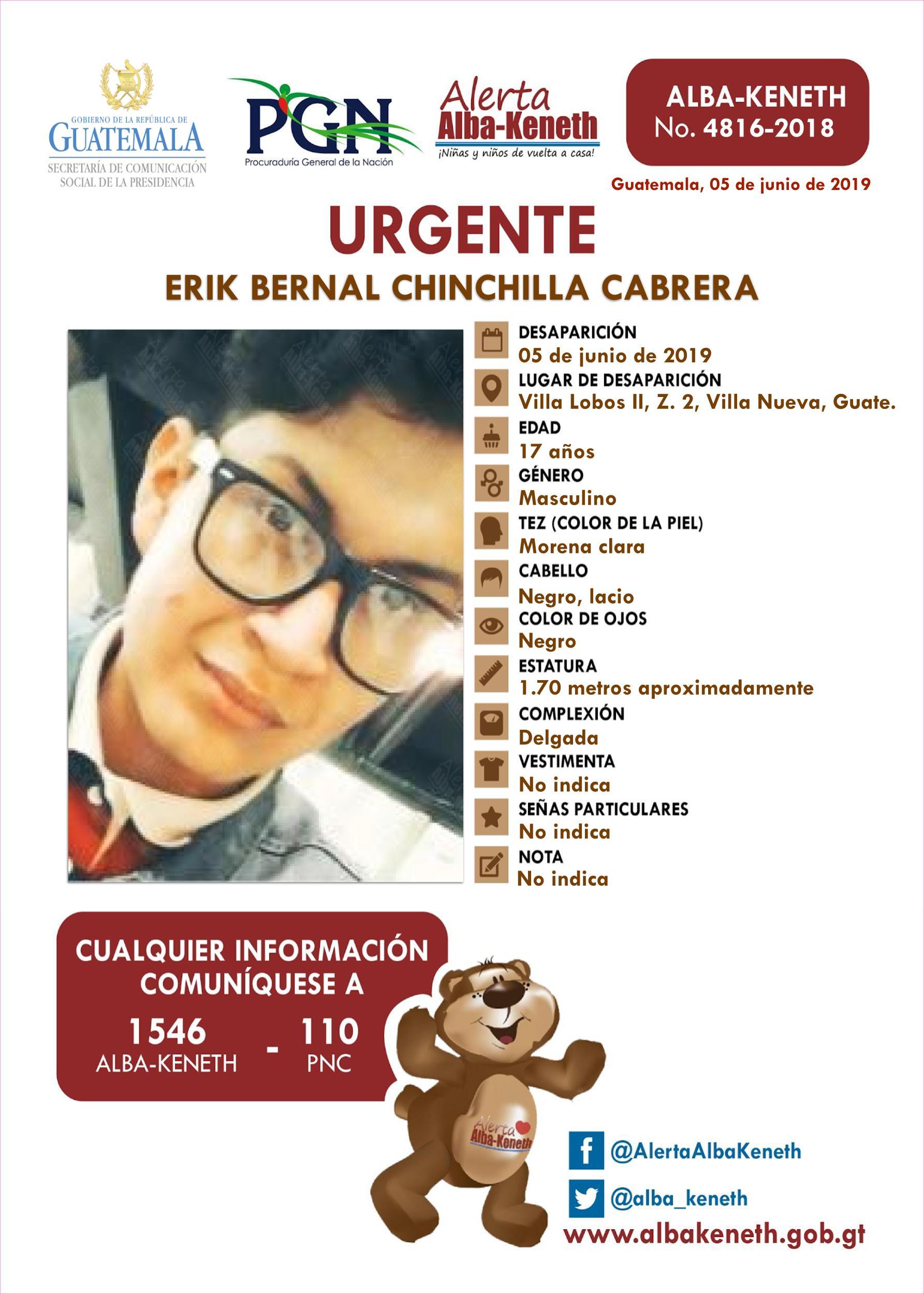 Erik Bernal Chinchilla Cabrera