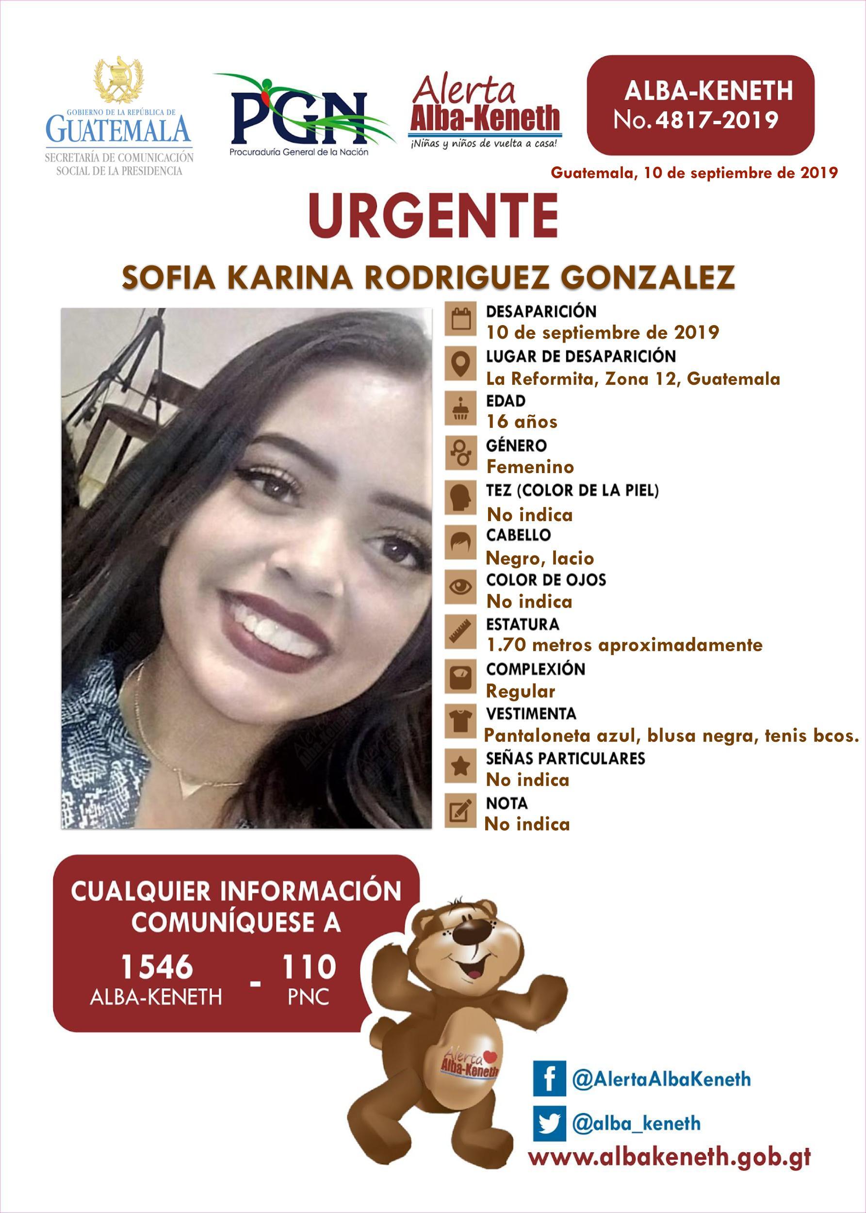 Sofia Karina Rodriguez Gonzalez