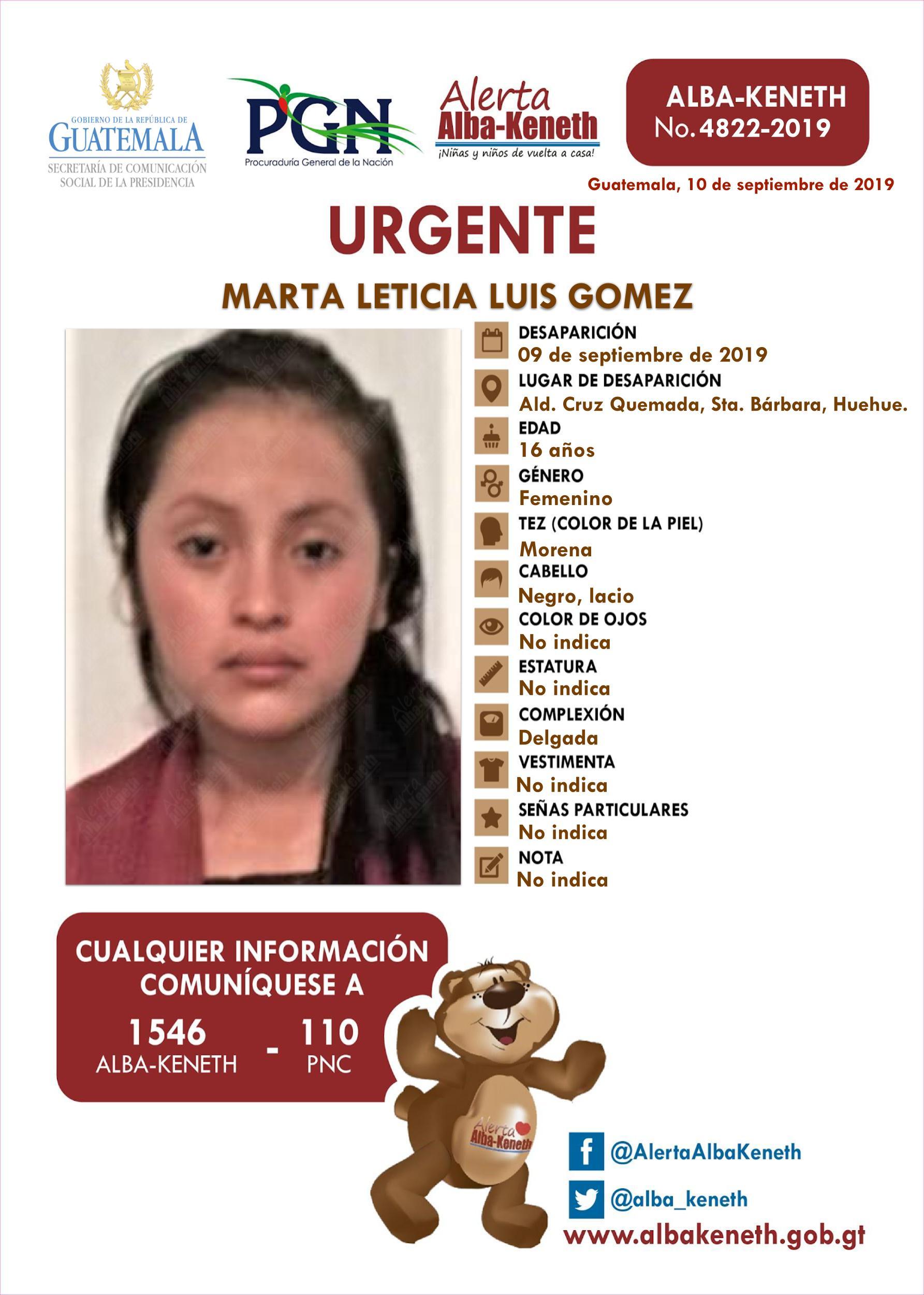 Marta Leticia Luis Gomez