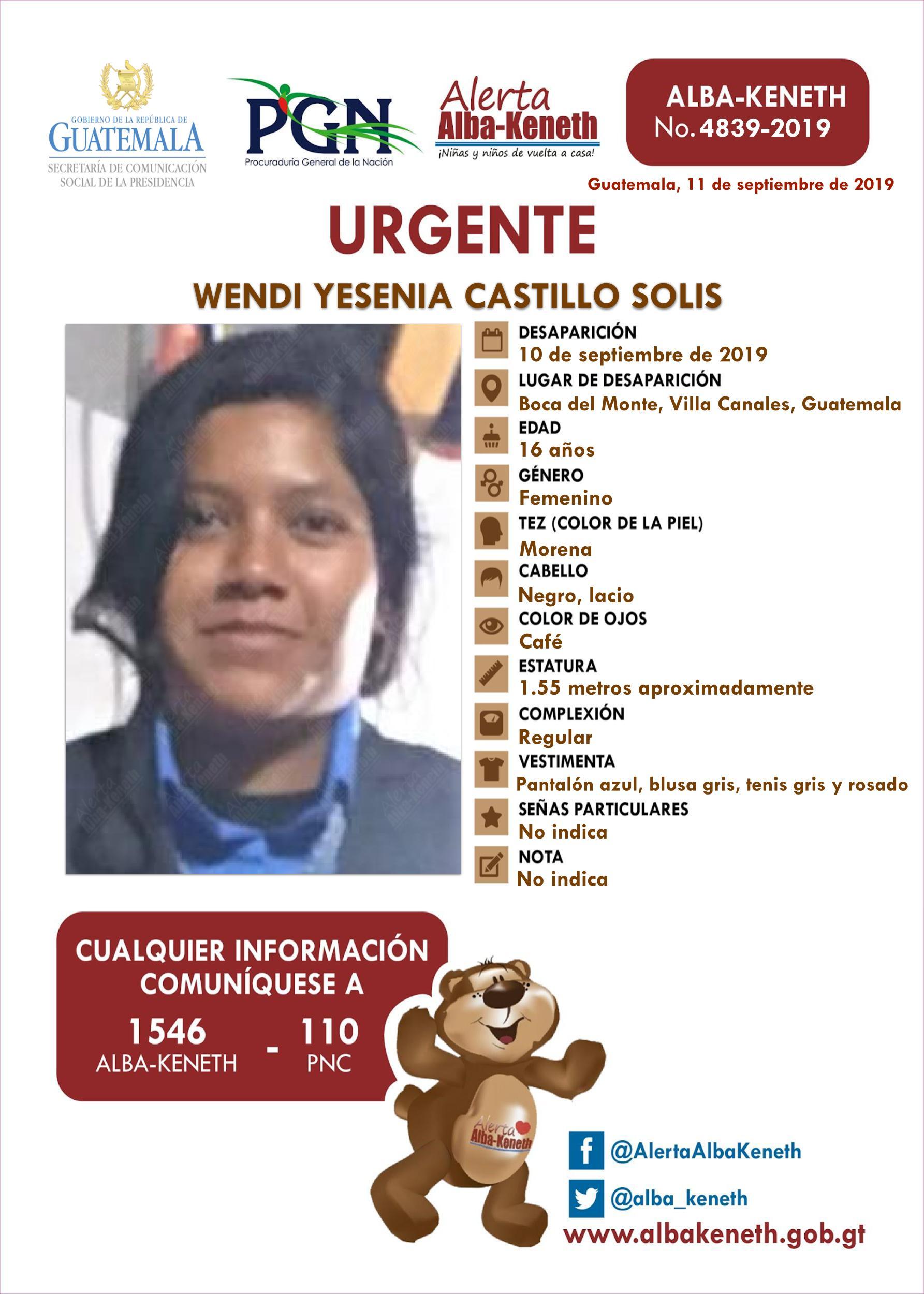 Wendi Yesenia Castillo Solis