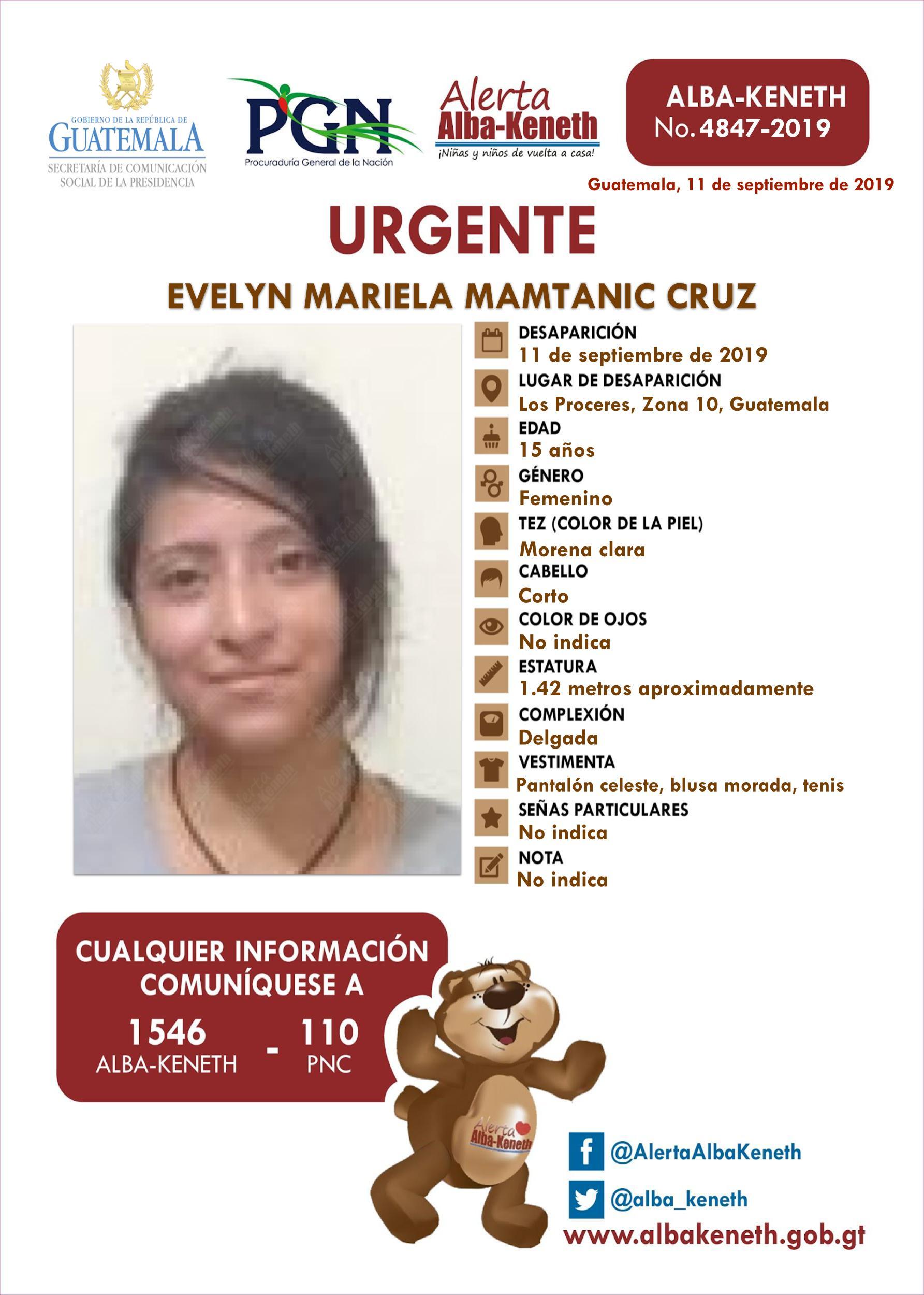 Evelyn Mariela Mamtanic Cruz