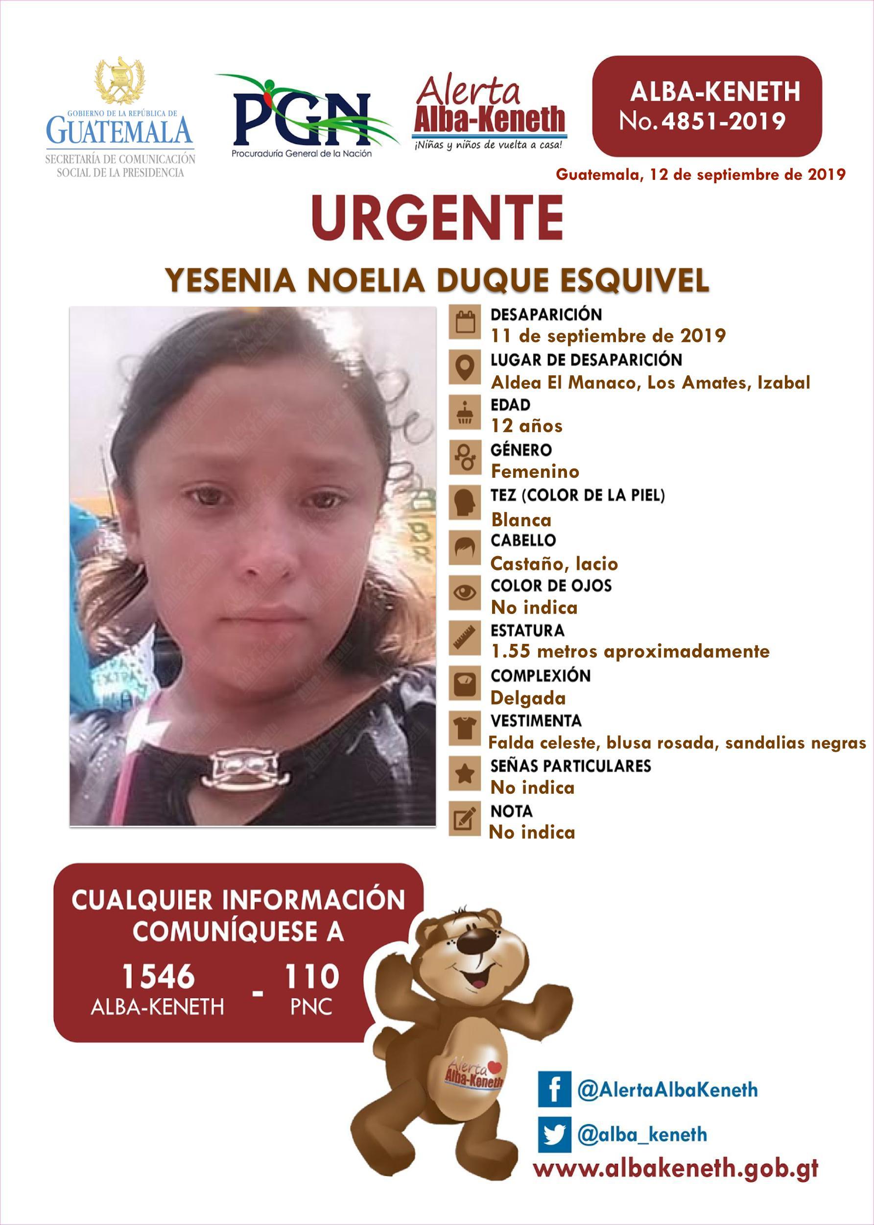 Yesenia Noelia Duque Esquivel