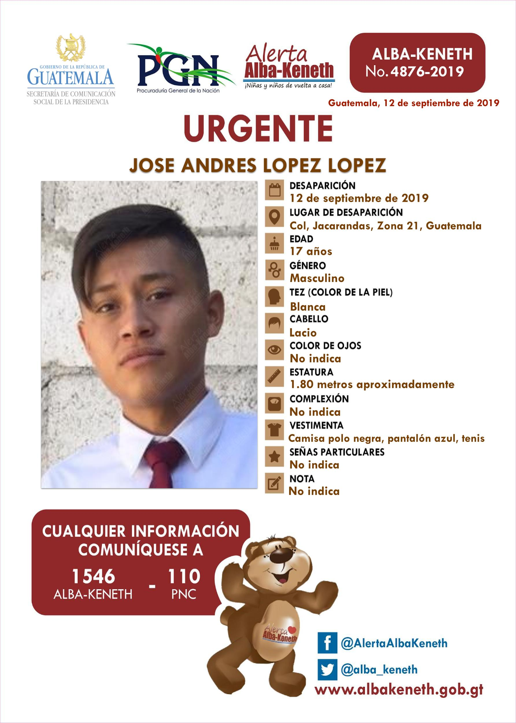 Jose Andres Lopez Lopez
