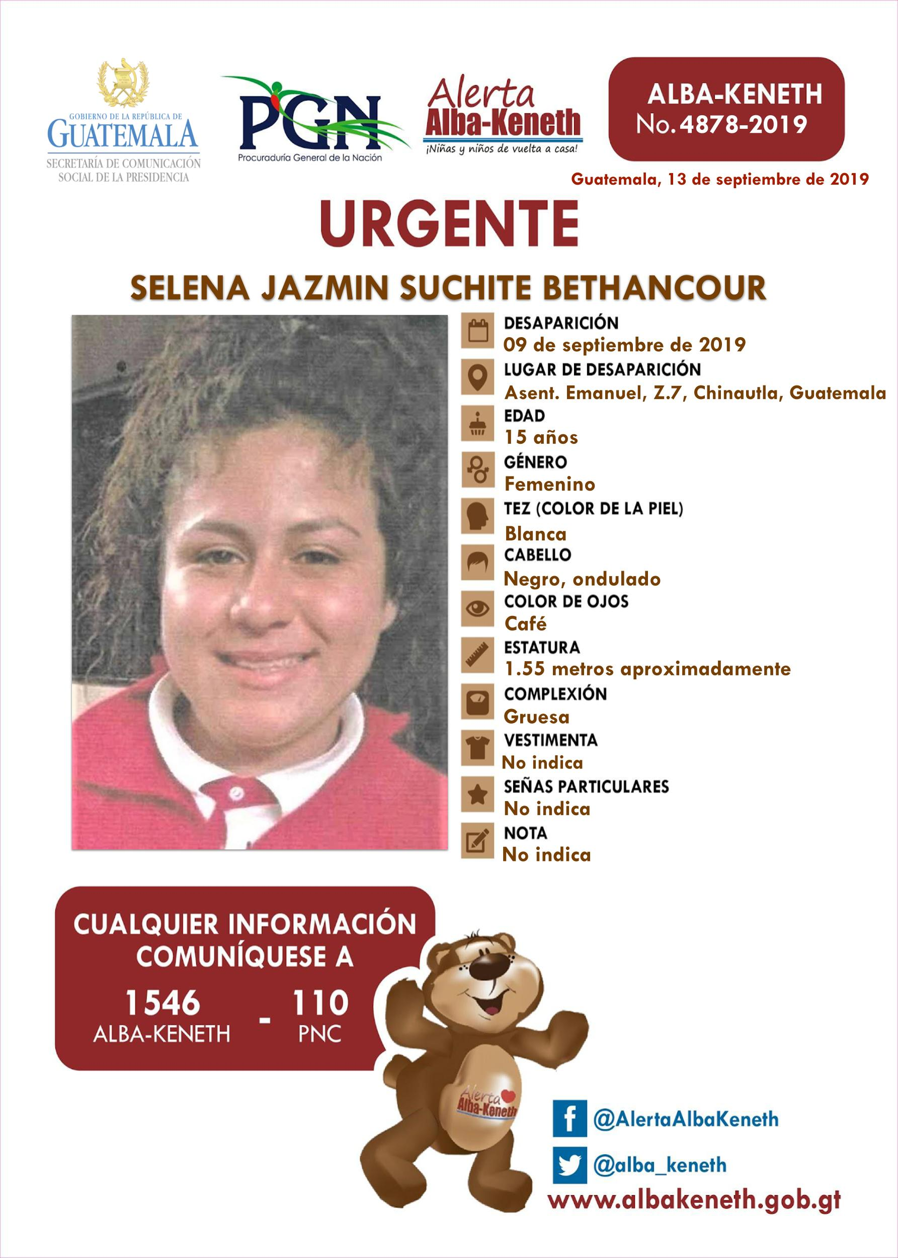 Selena Jazmin Suchite Bethancour