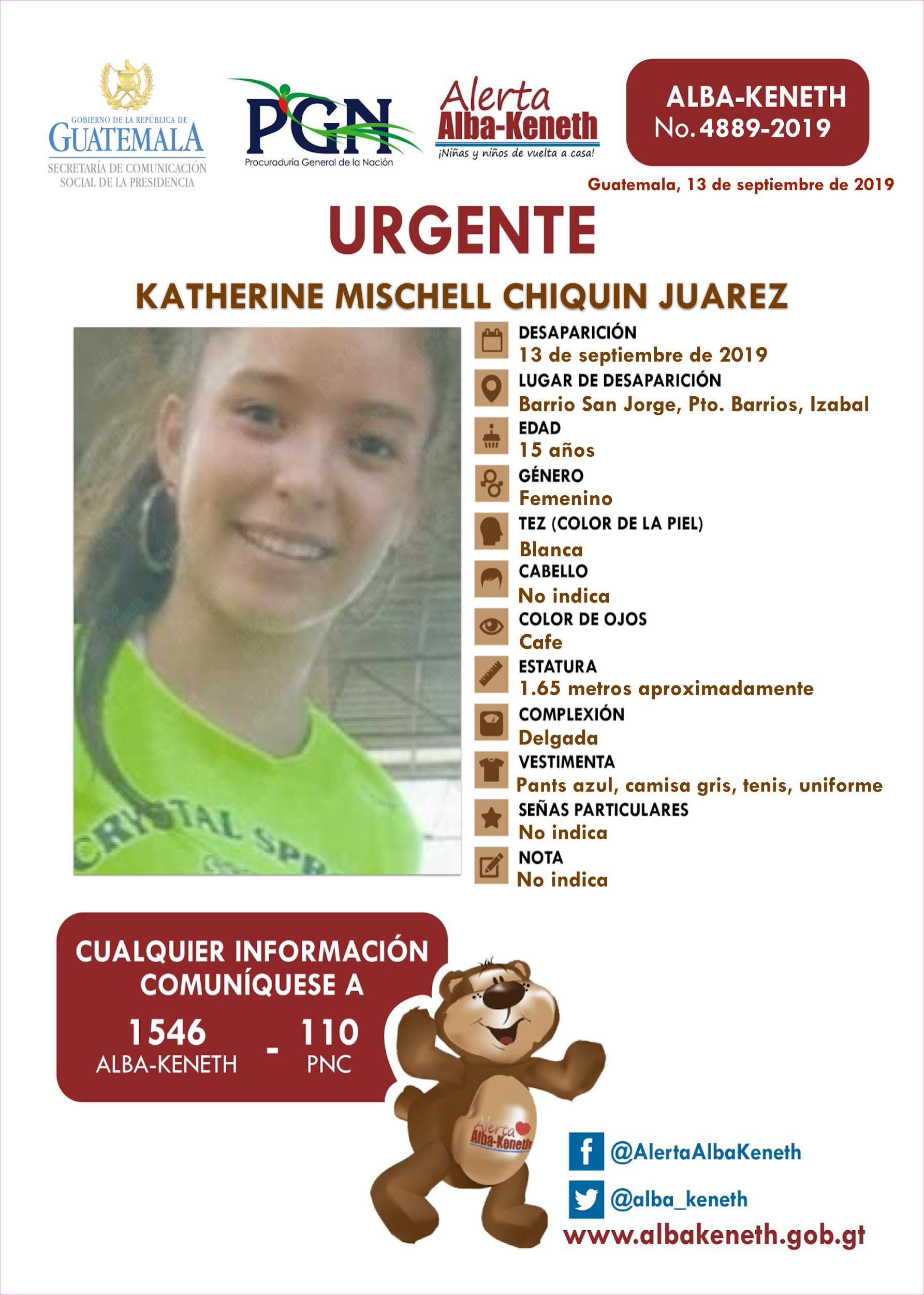 Katherine Mischell Chinquin Juarez