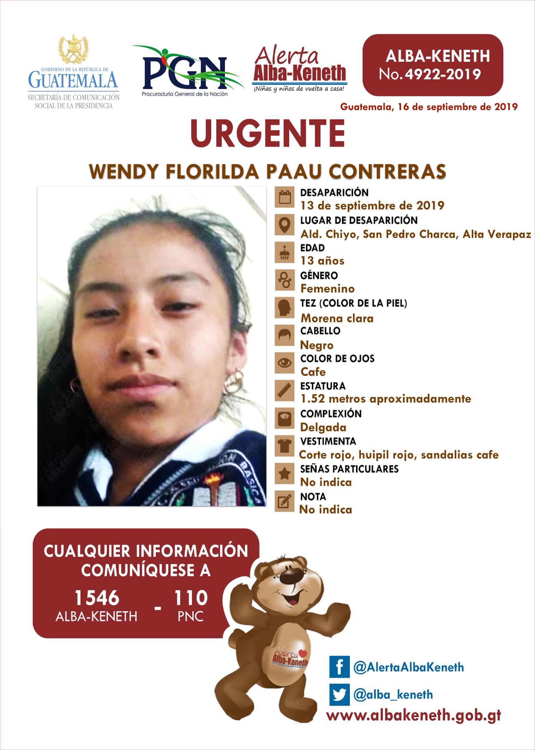 Wendy Florilda Paau Contreras