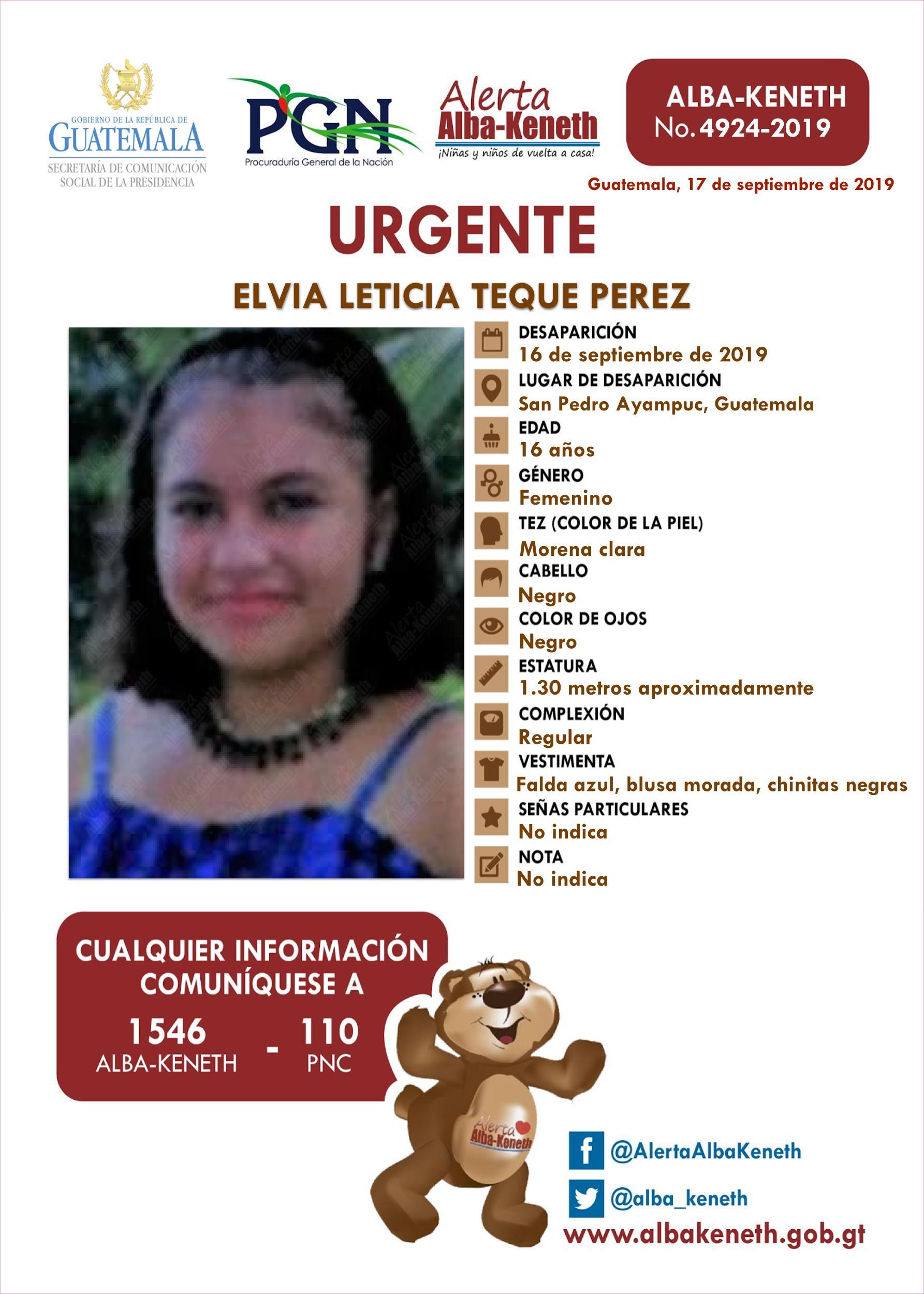 Elvia Leticia Teque Perez