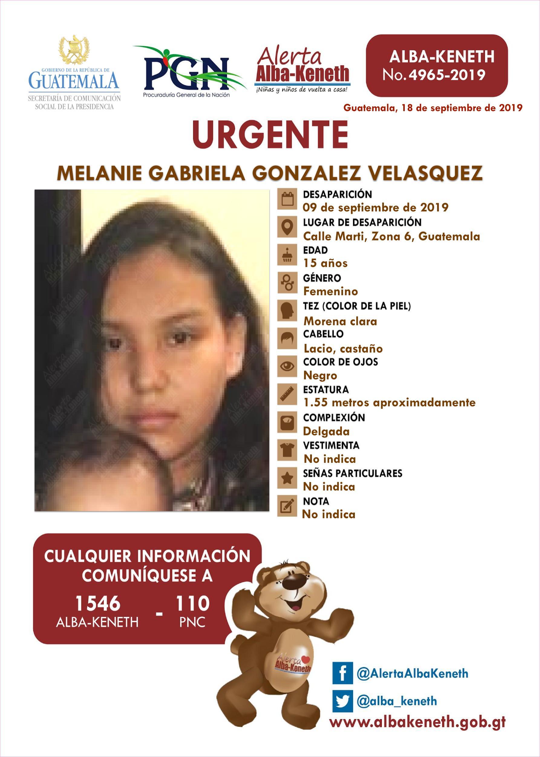 Melanie Gabriela Gonzalez Velasquez