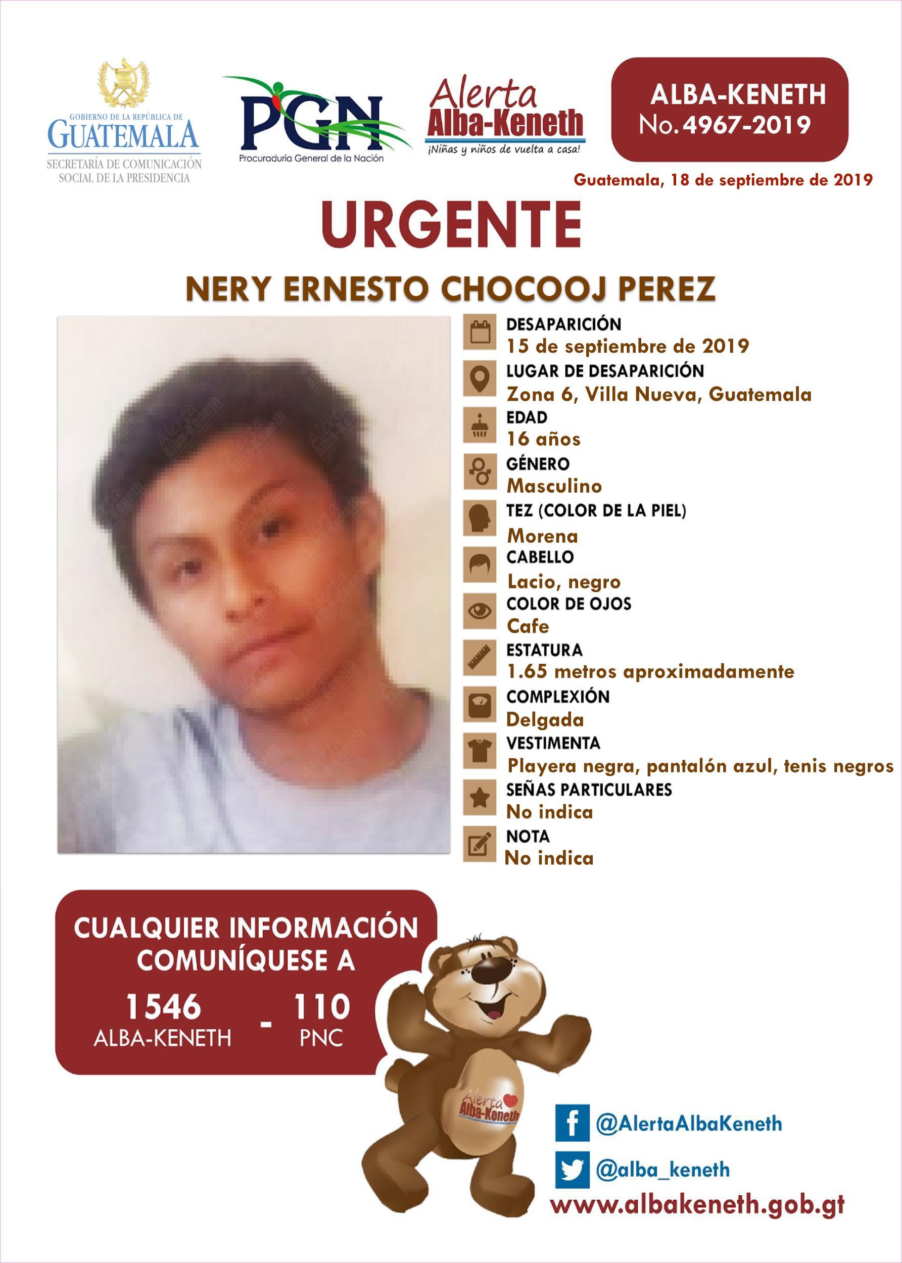 Nery Ernesto Chocooj Perez
