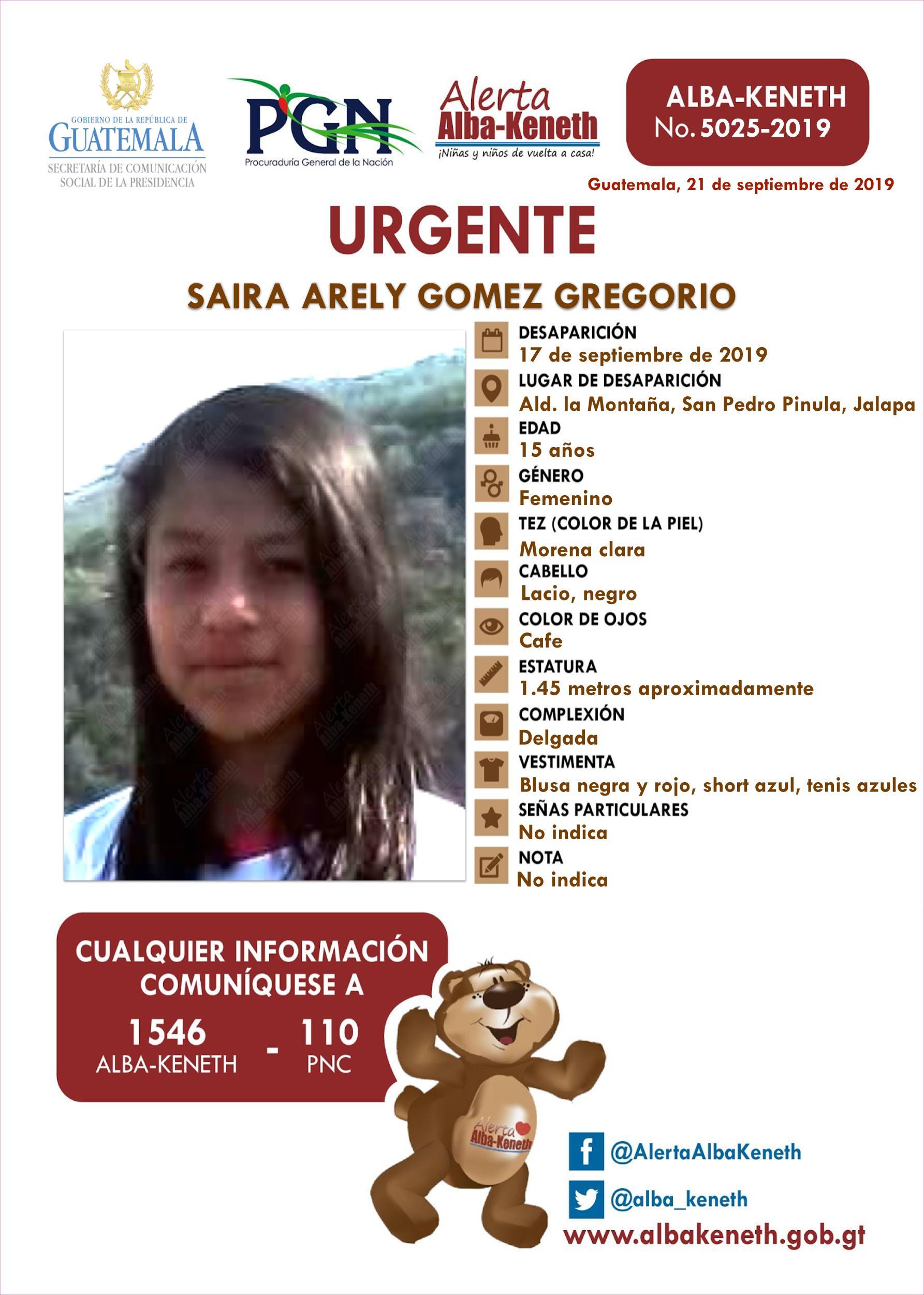 Saira Arely Gomez Gregorio
