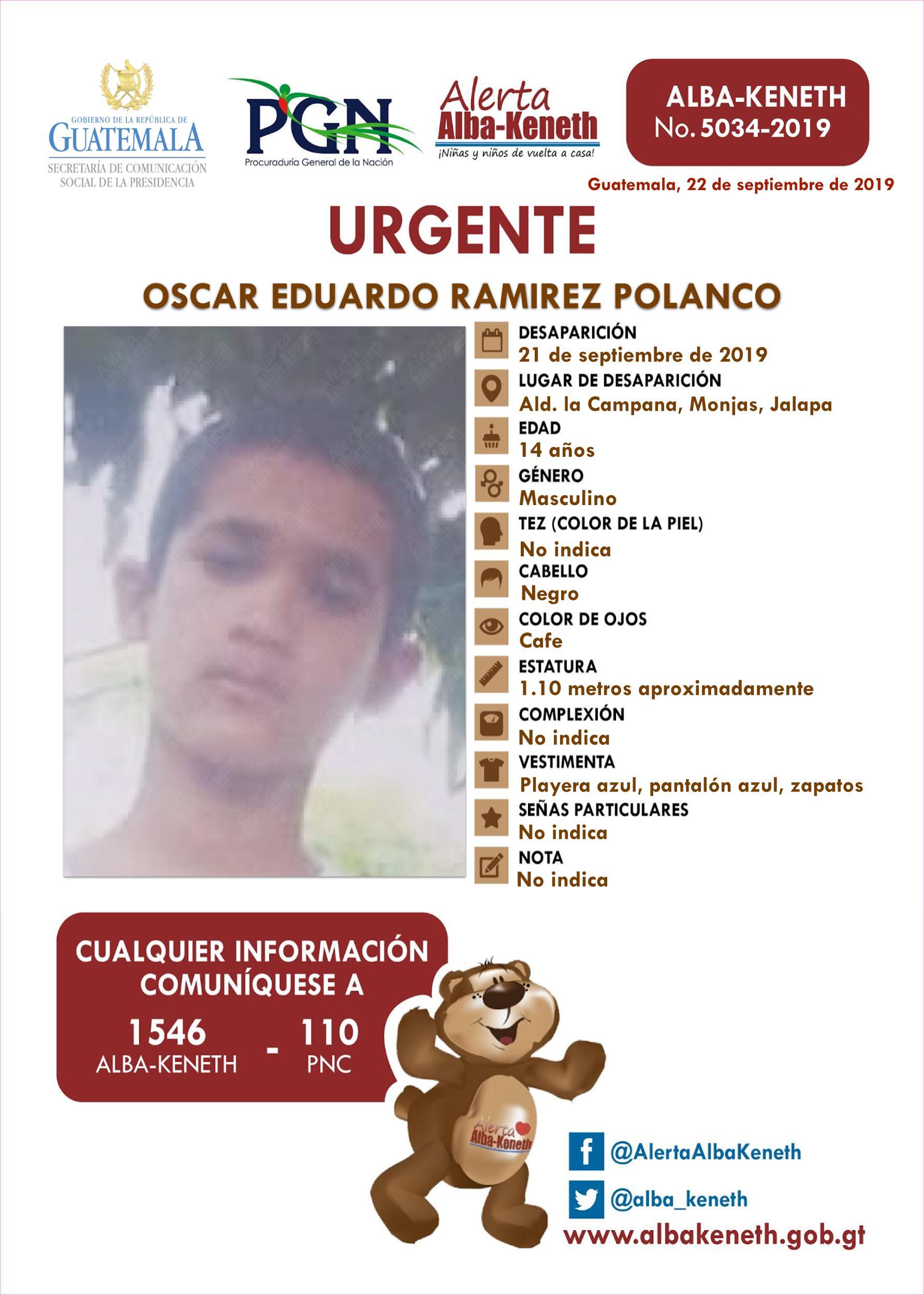 Oscar Eduardo Ramirez Polanco